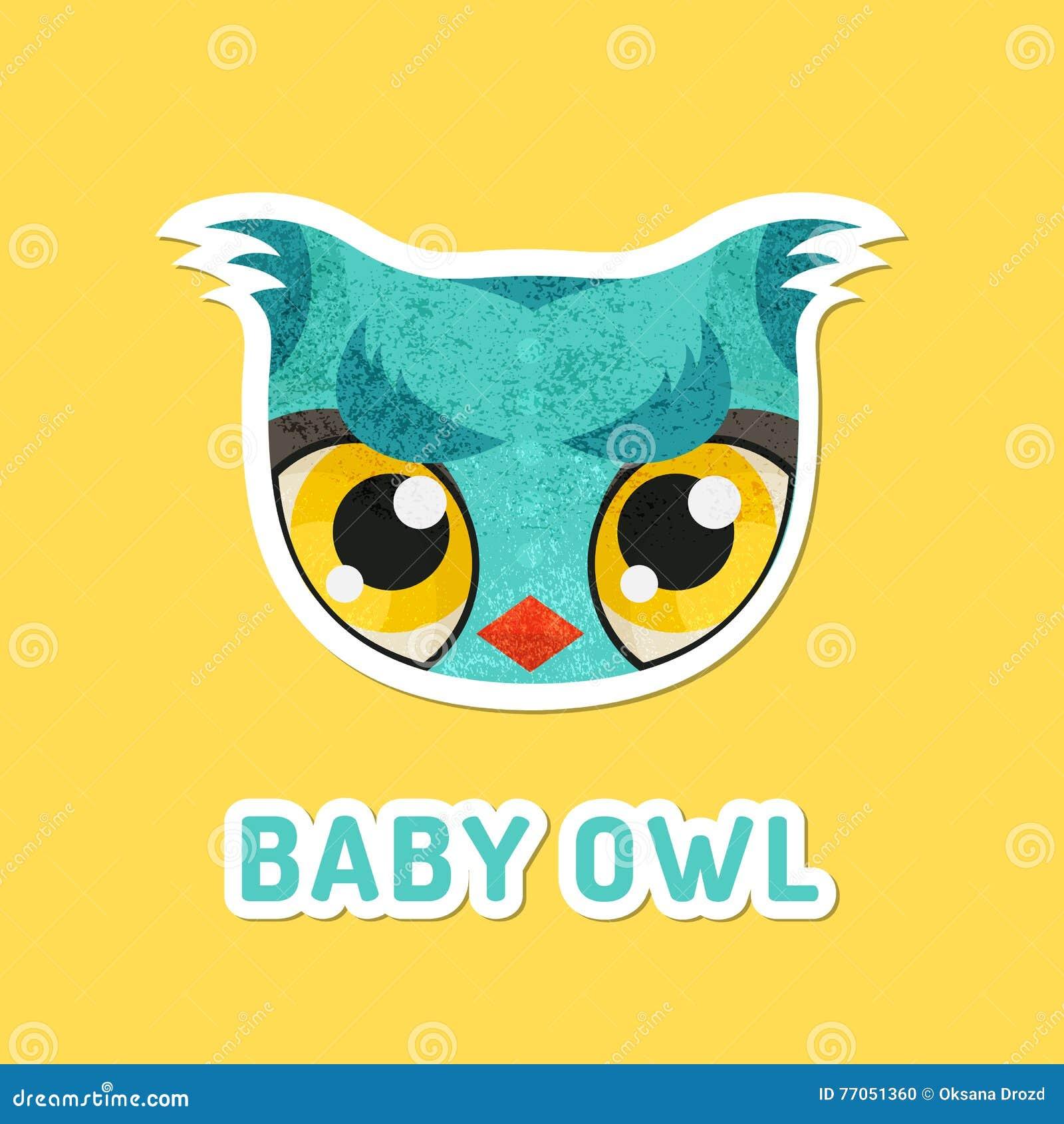 Búho Del Bebé De La Turquesa Con Los Ojos Extremadamente Grandes ...