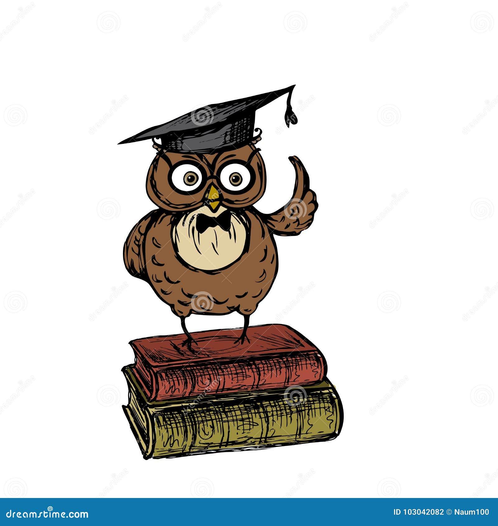 ca8bf2c4d14 Búho lindo con el sombrero de la graduación ilustración del vector mujer  dibujos jpg 1300x1390 Mujer