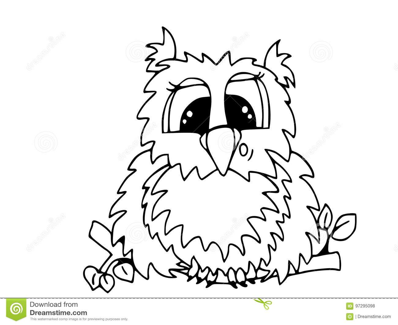 Búho Sorprendido Divertido Animales Y Personajes De Dibujos Animados