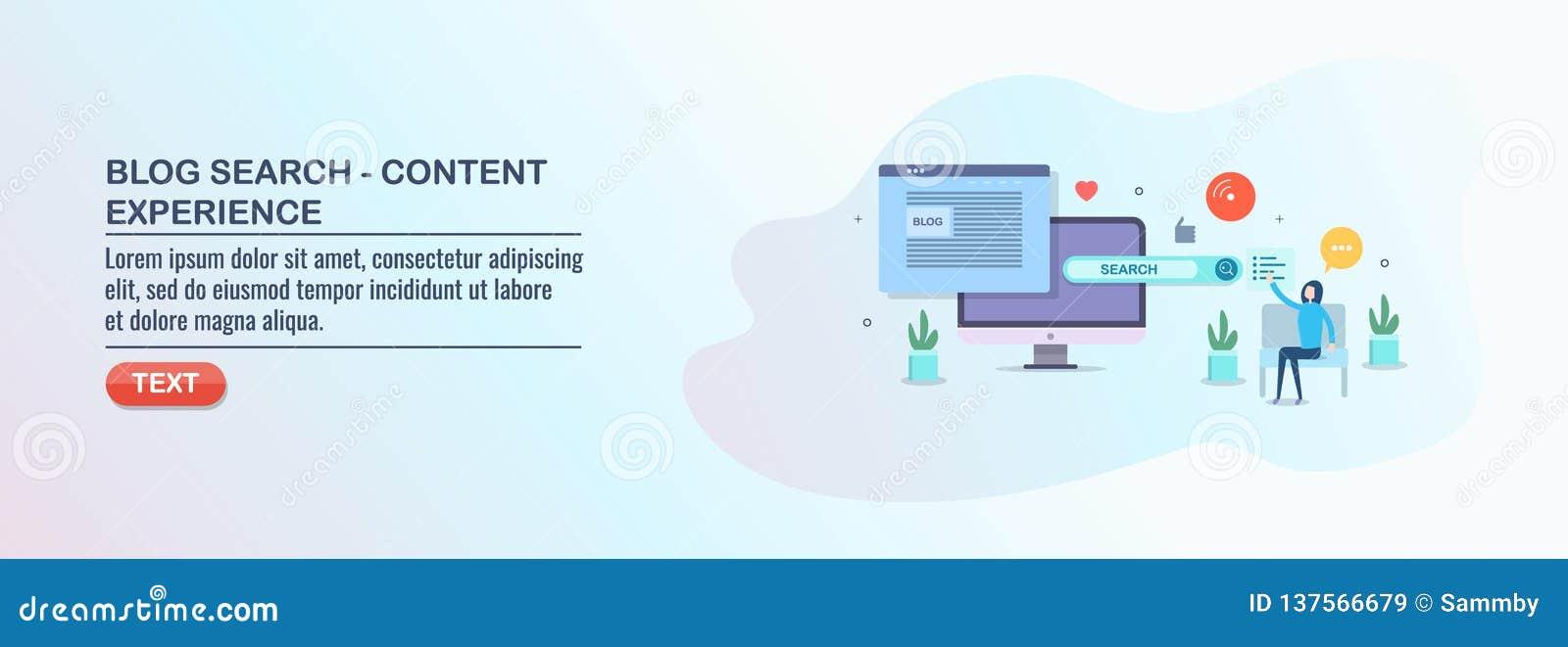 Búsqueda del blog, experiencia contenta, optimización del seo, márketing digital de los medios