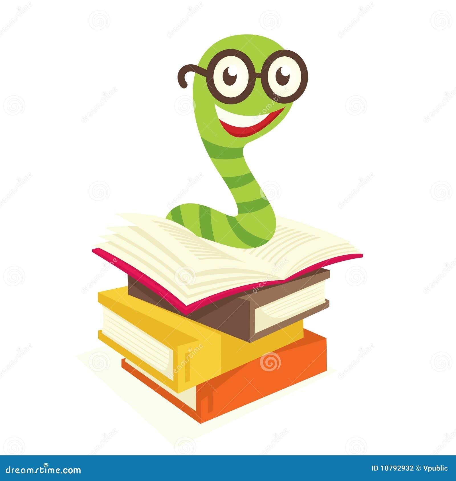 Bücherwurm clipart  Bücherwurm vektor abbildung. Illustration von niemand - 10792932