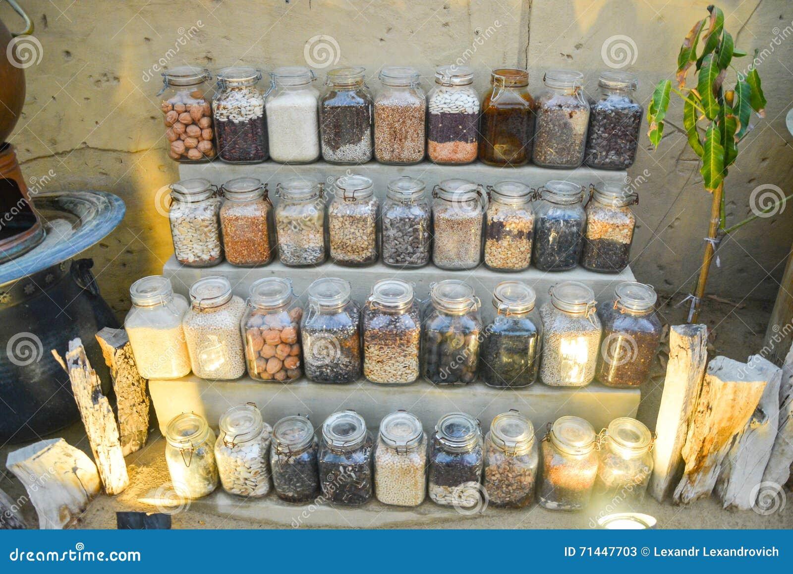 In Büchsen konservierte Obst und Gemüse in der Höhlenglaszusammensetzung