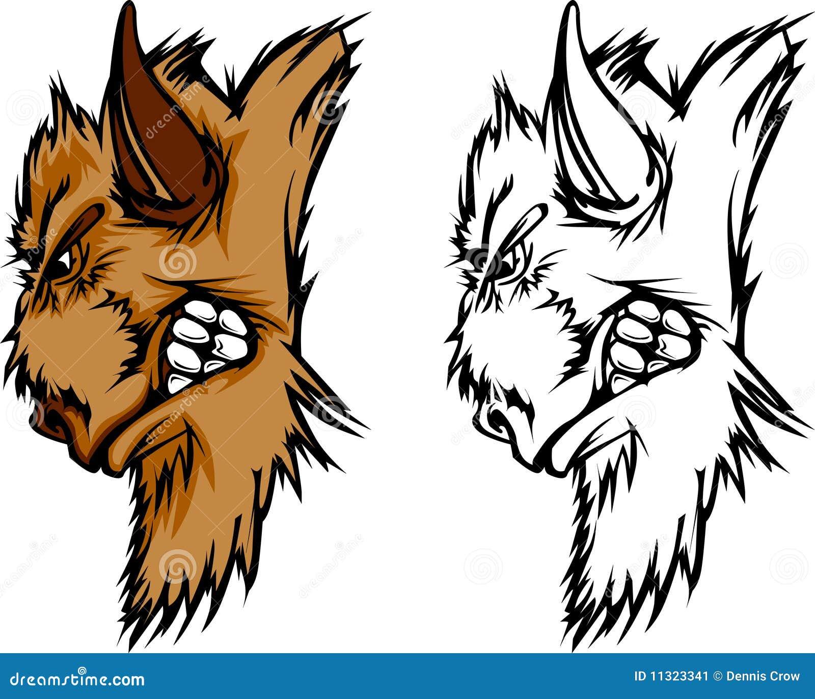 Büffel-Maskottchen-Zeichen