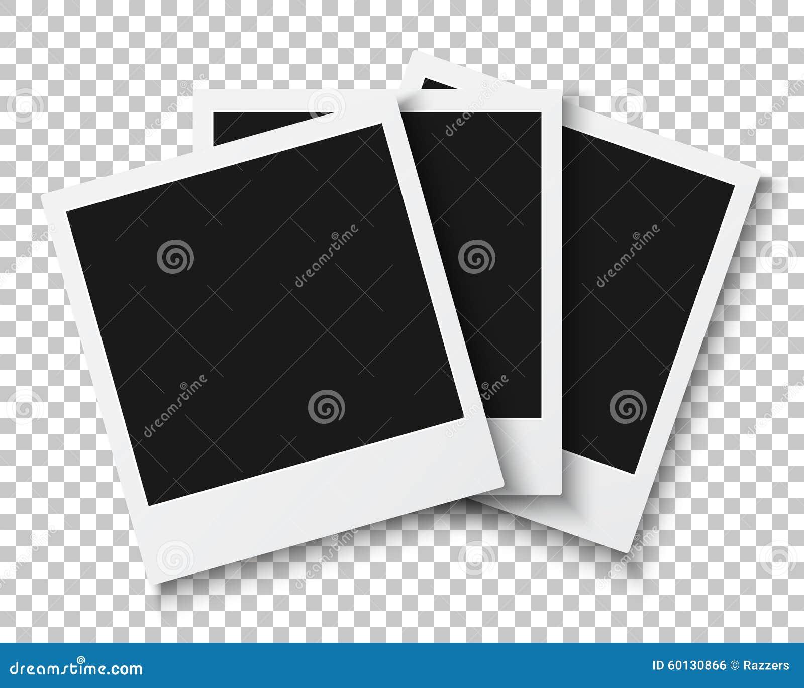Bündel Foto-Rahmen Auf PS-Art-Hintergrund Photoreal Vektor Abbildung ...