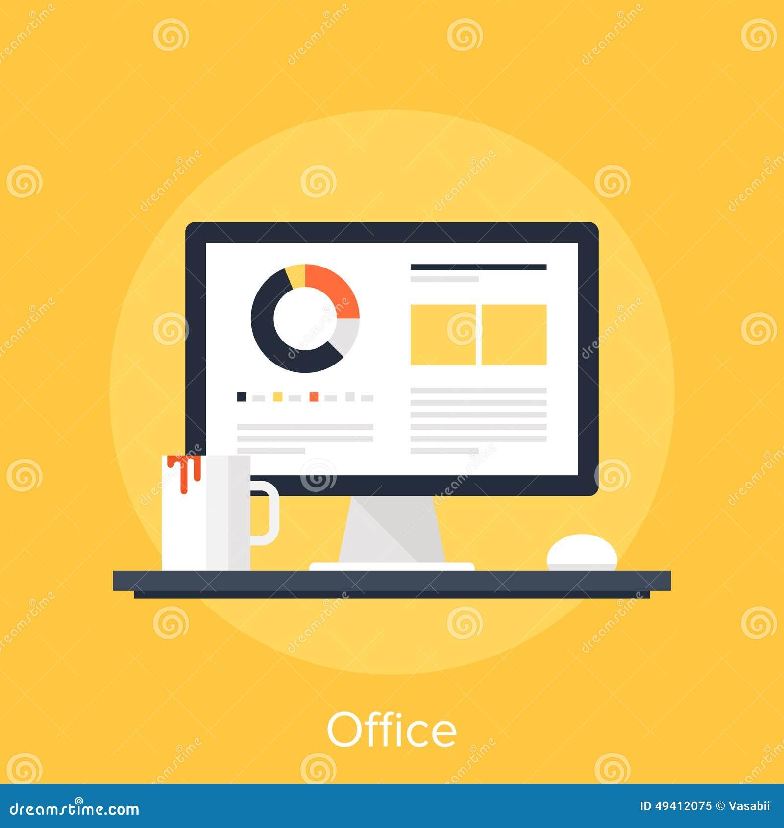 Download Büro vektor abbildung. Illustration von büro, arbeitsplatz - 49412075
