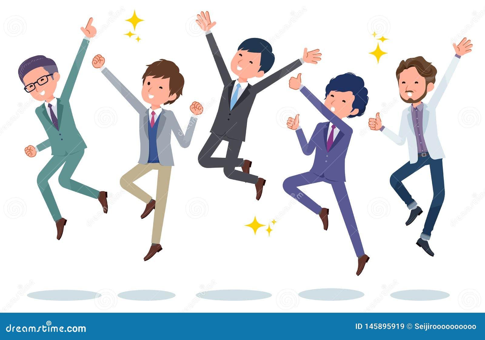 Büro scene_jump Büromänner