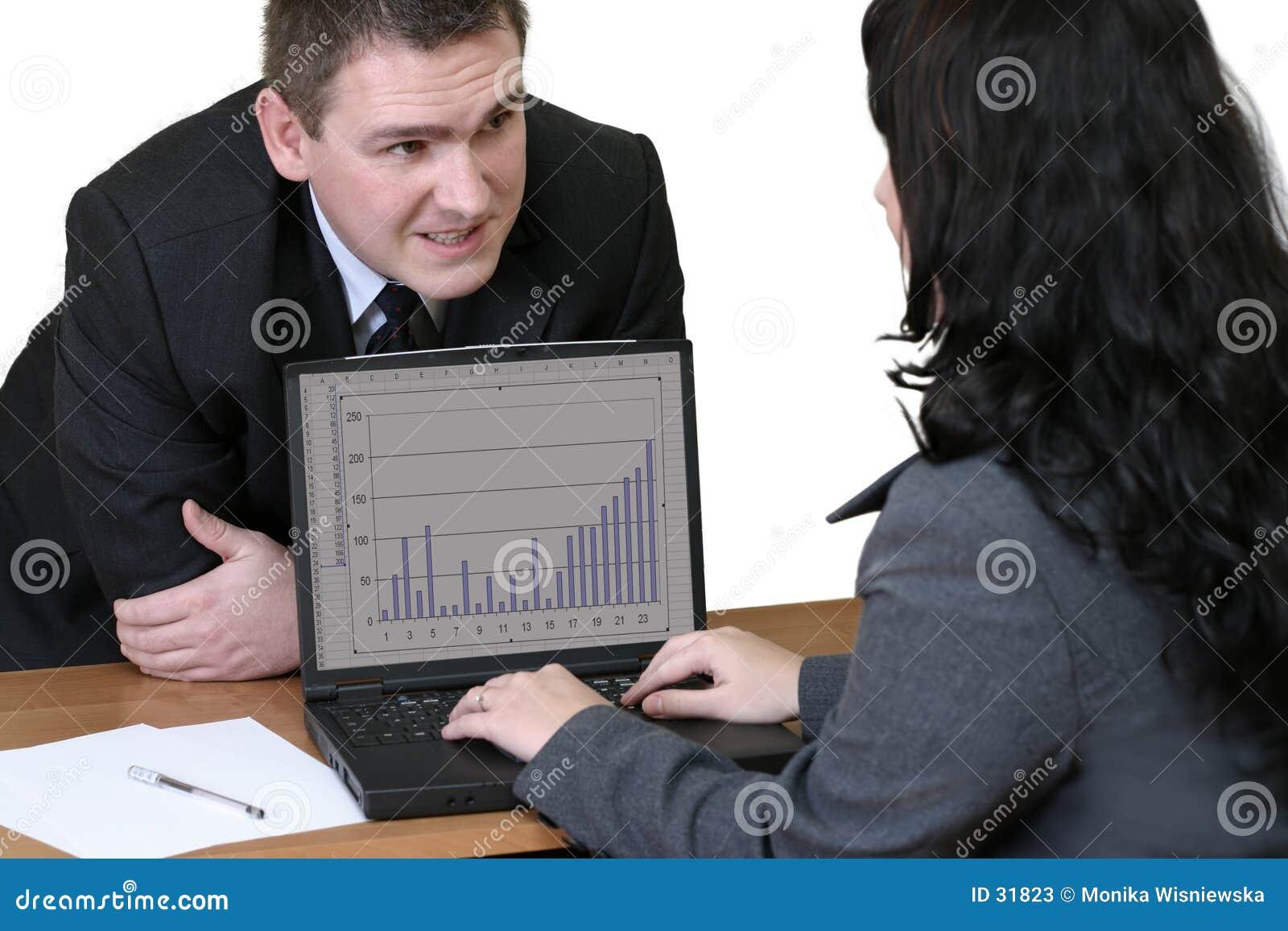 Büroangestellte - Gespräch