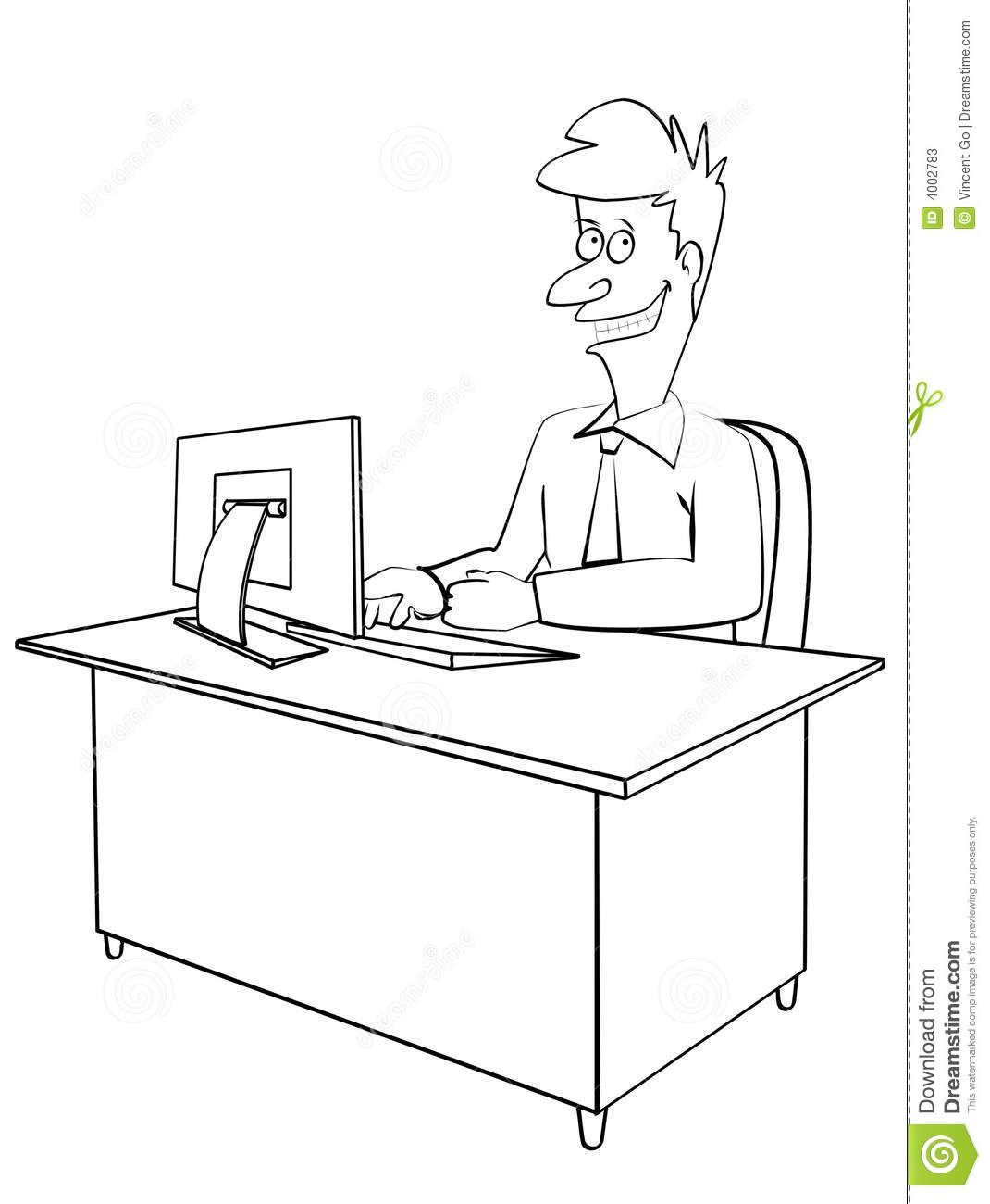 Clipart Black And White Office Www Picsbud Com