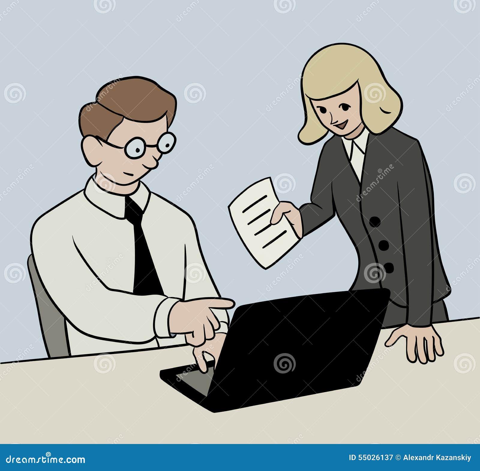 Büroarbeit clipart  Büroarbeit vektor abbildung. Bild von sonderling, menschlich ...