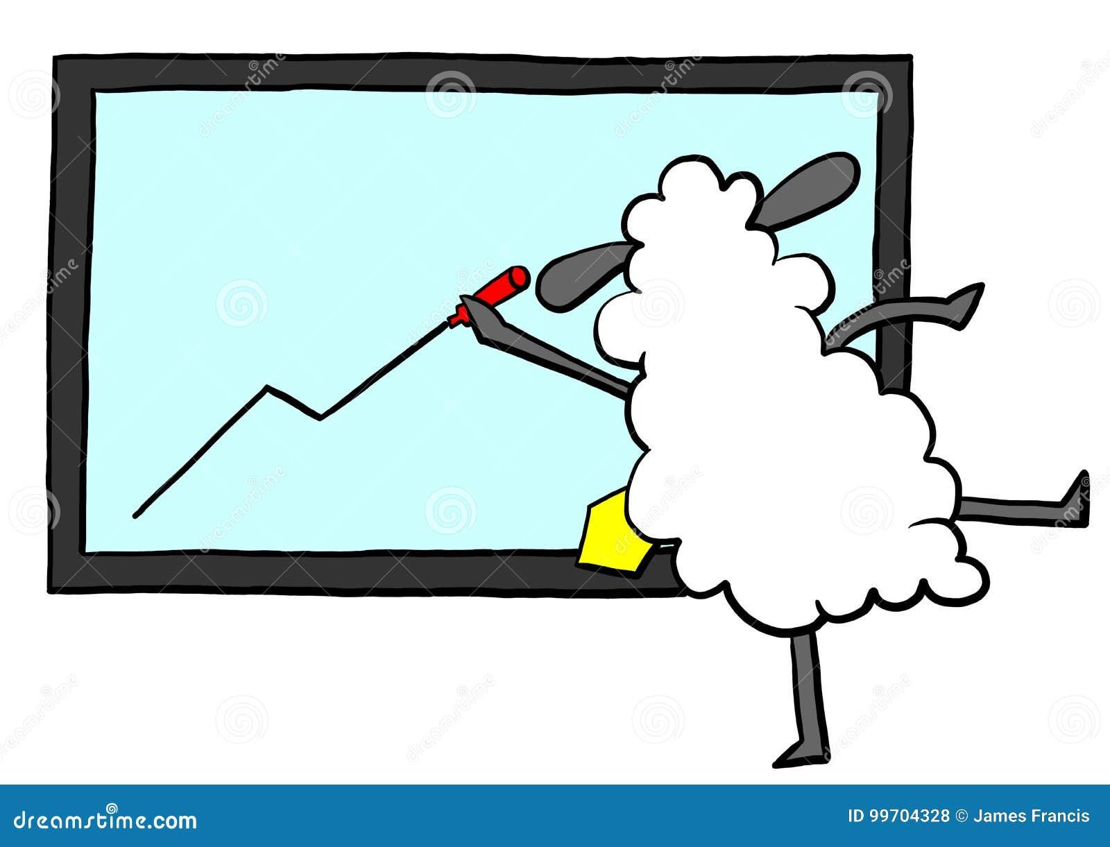 Büroschaf-Zeichnungsdiagramm Stock Abbildung - Illustration von ...