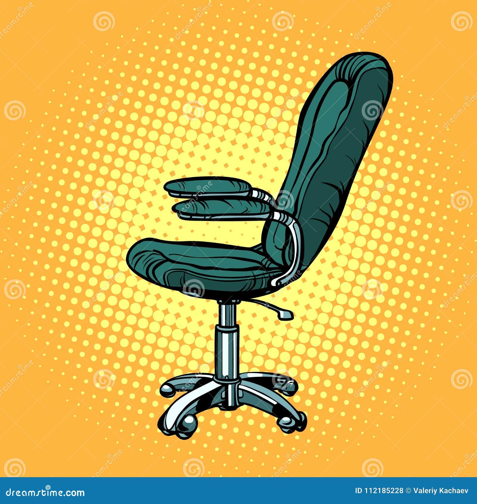 Bürostuhl comic  Bürostuhl, Möbel Für Arbeit Und Geschäft Vektor Abbildung ...