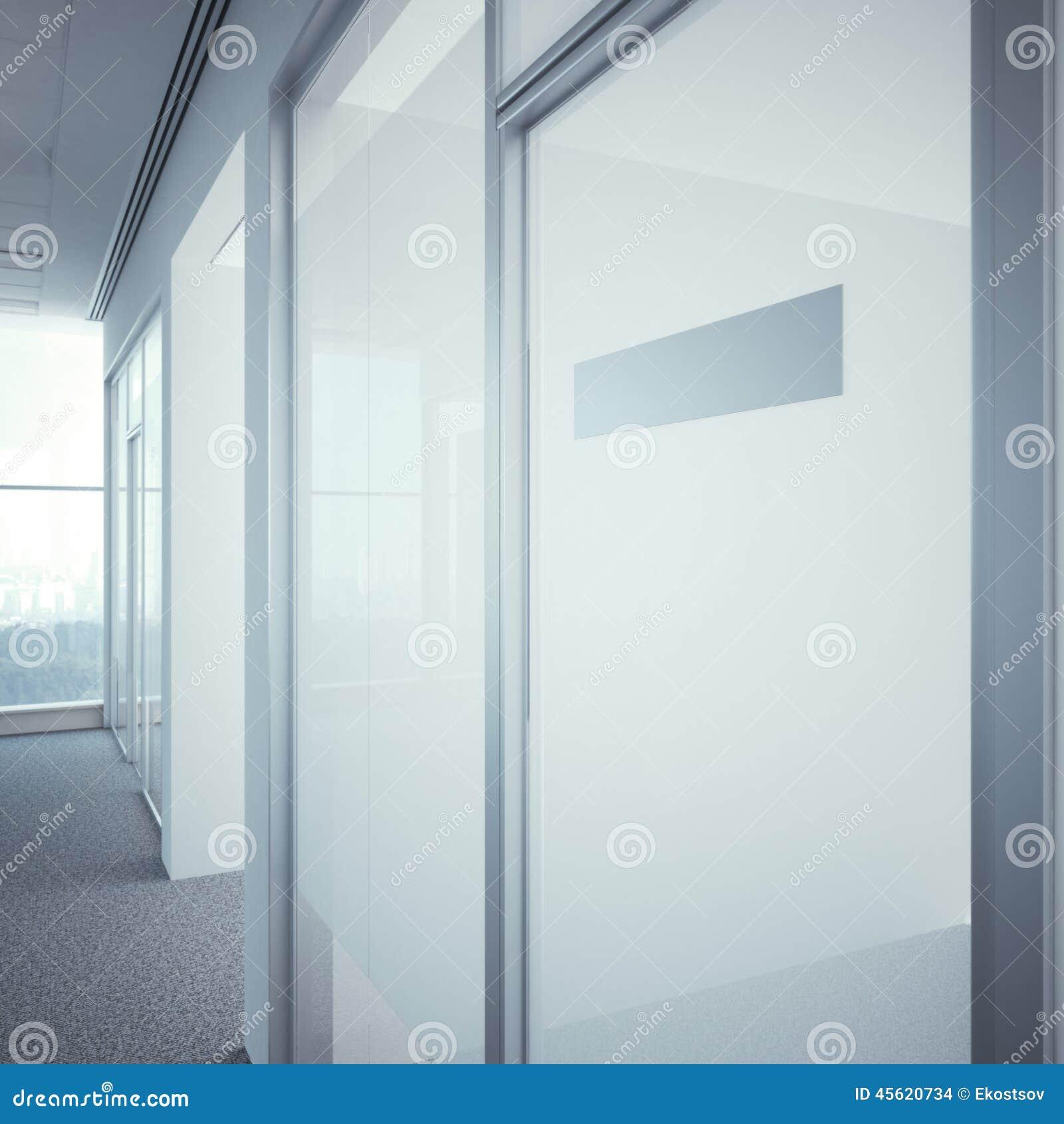 Bürotür Mit Metallnummernschild Stockfoto - Bild von erwachsener ...