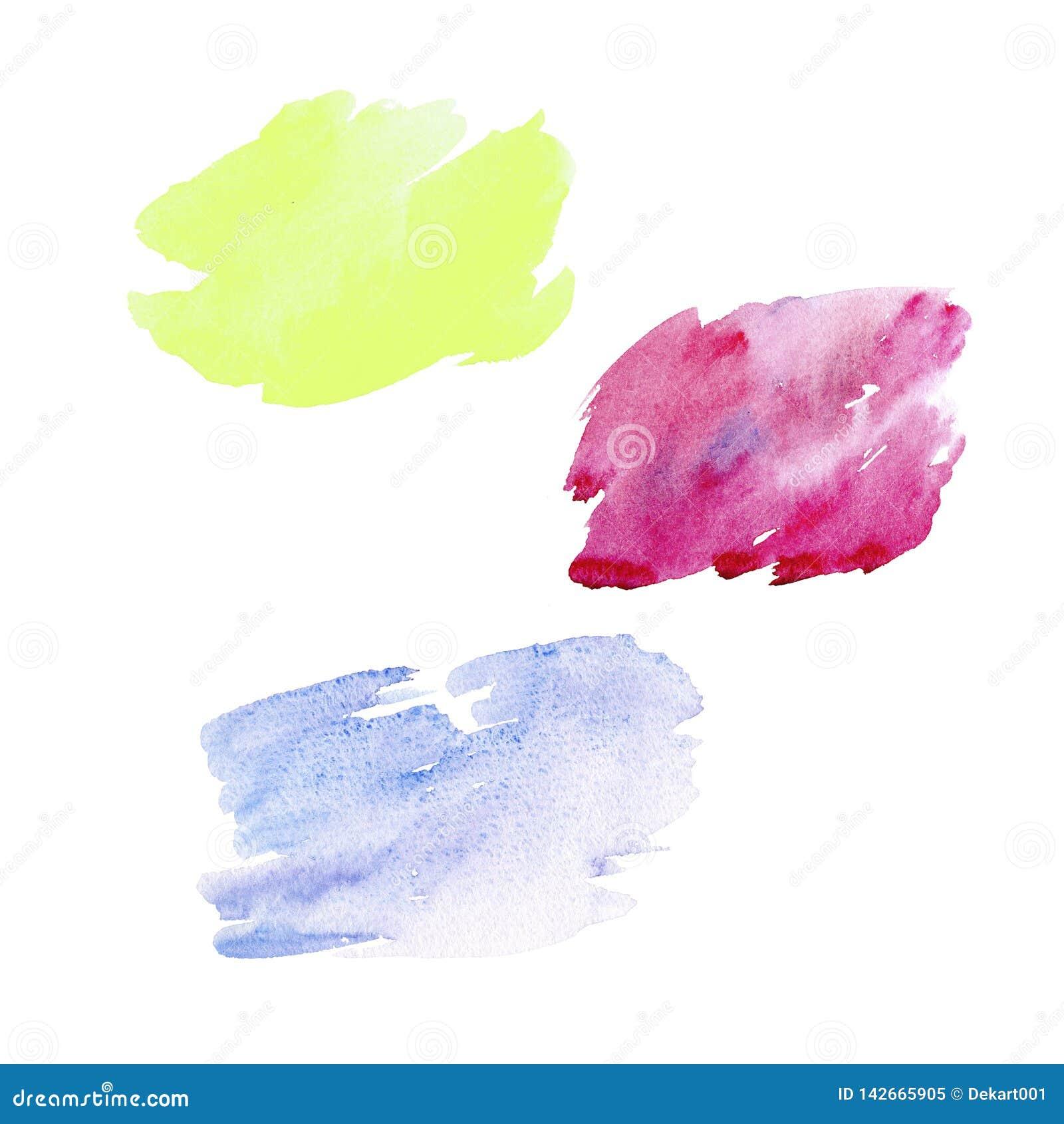 Bürsten Sie die stroks, die auf Weißbuchhintergrund gezeichnet werden Buntes Bürstendesign Abstrakte Schablone der Karte oder des