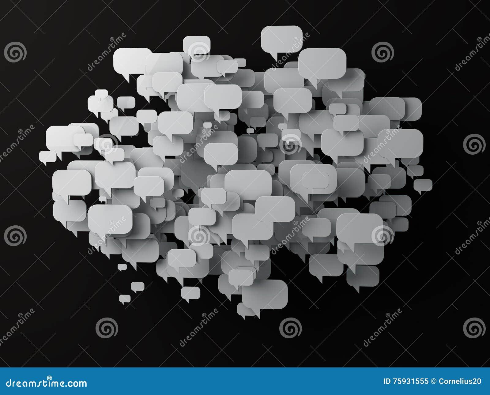 Bąbla komputer wytwarzająca wizerunku rozmowa