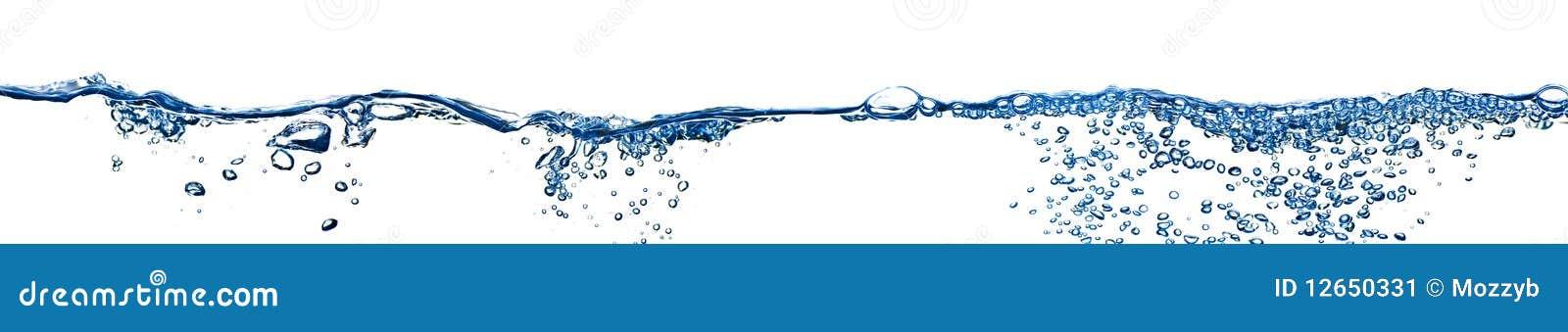 Bąble odizolowywająca panoramy chełbotania woda