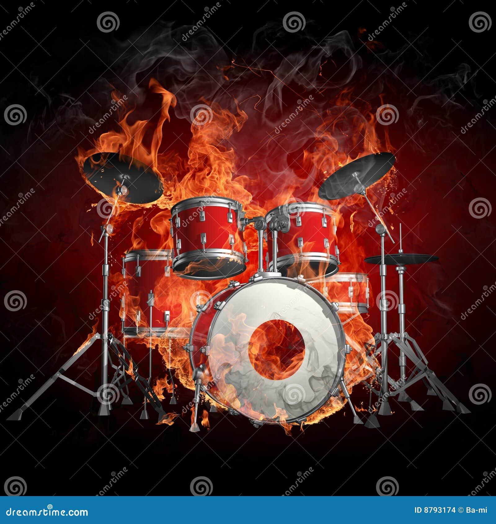 Bębenu ogień