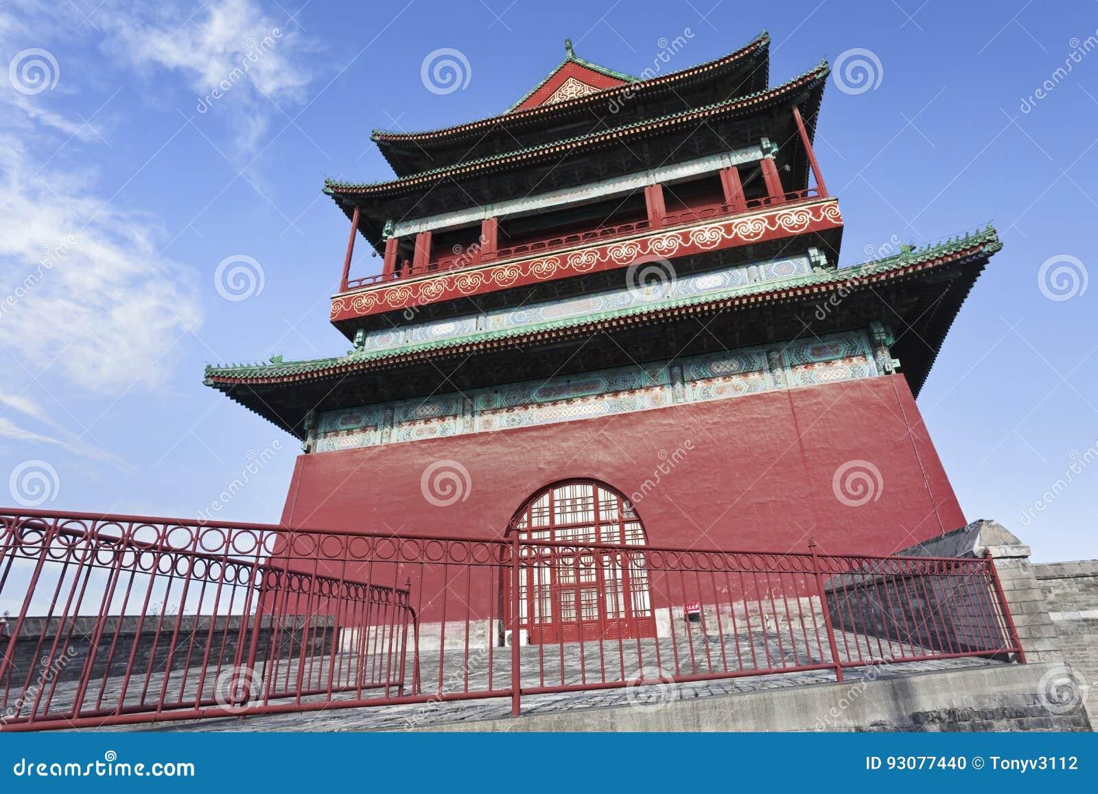 Bębenu wierza w Pekin starym miasteczku