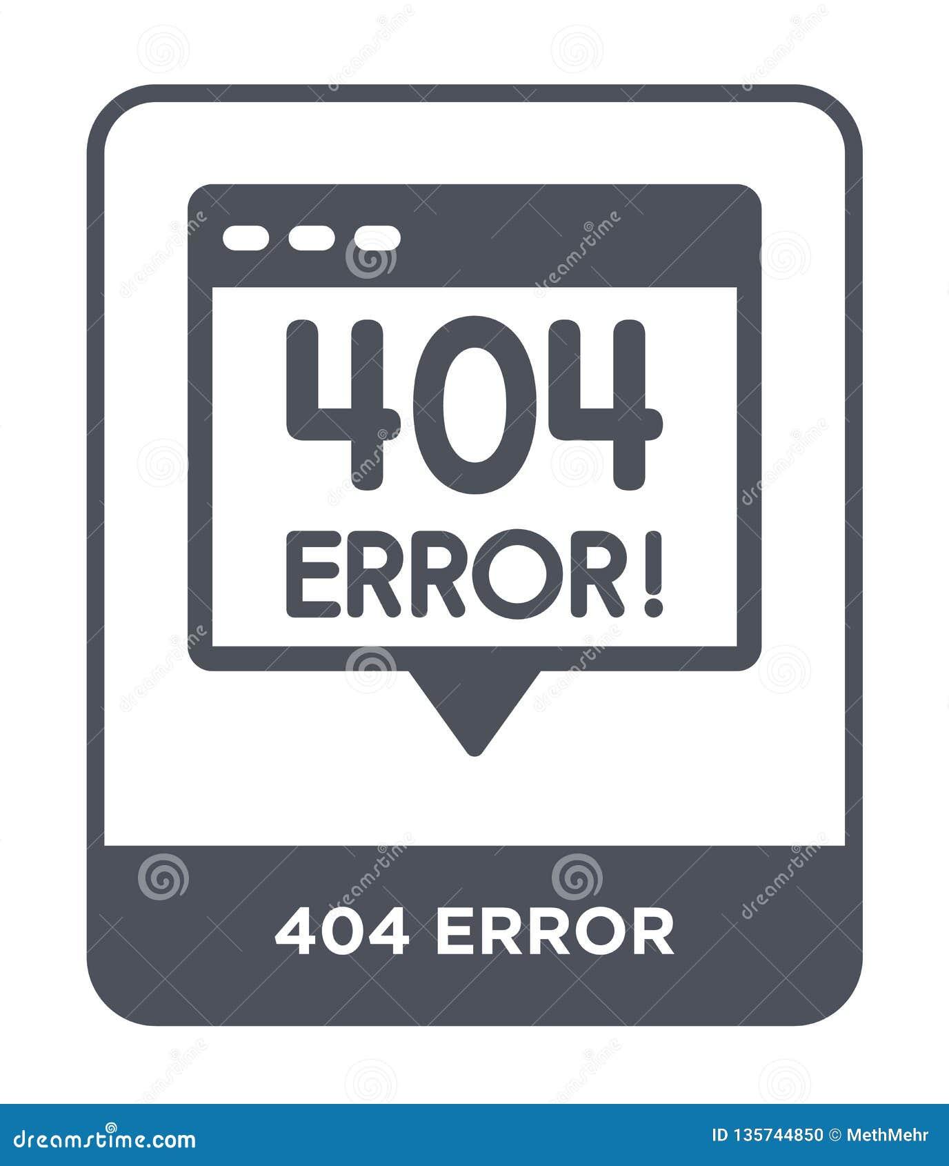 404 błędów ikona w modnym projekta stylu 404 błędów ikona odizolowywająca na białym tle 404 błędów wektorowej ikony prosty i nowo