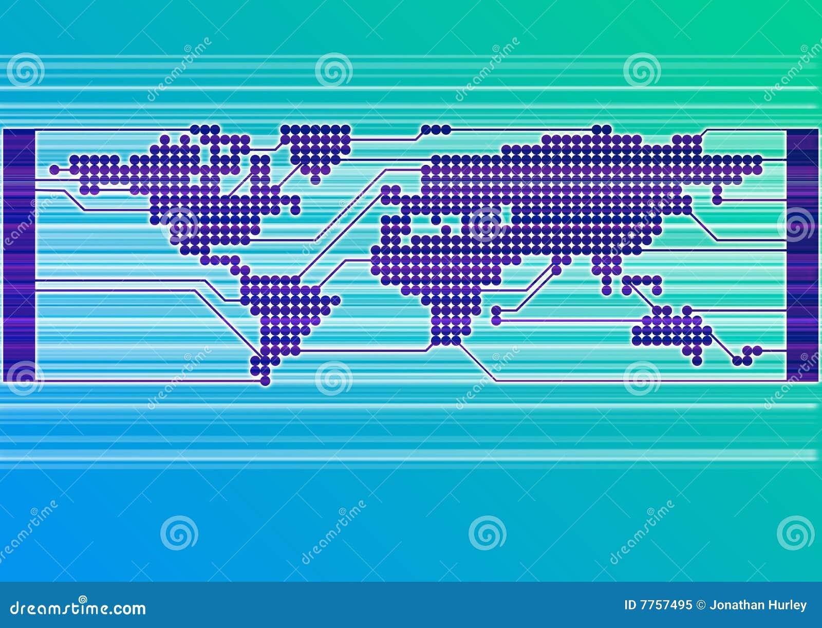 Błękit deski obwodu świat