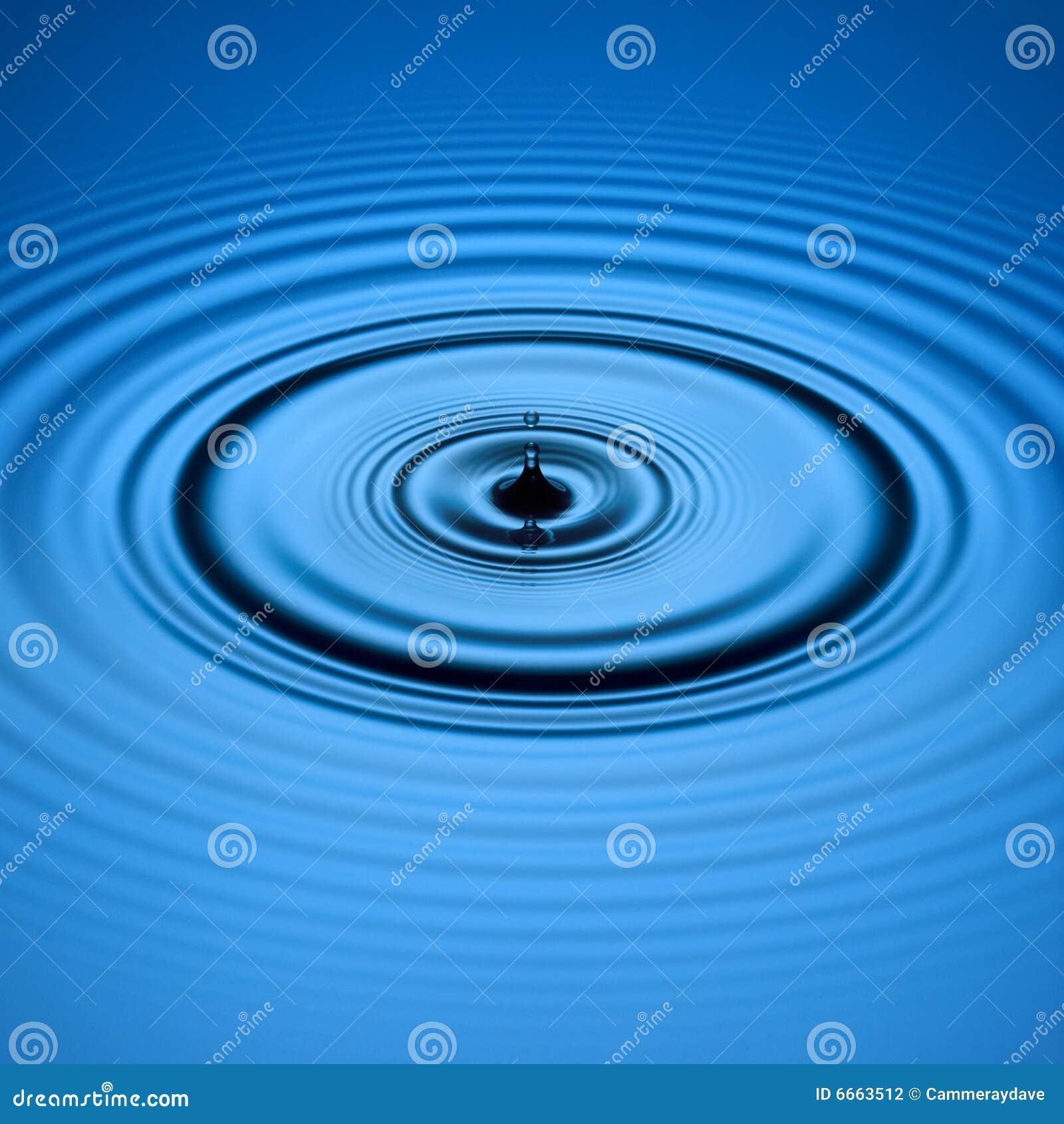 Błękit kropli woda