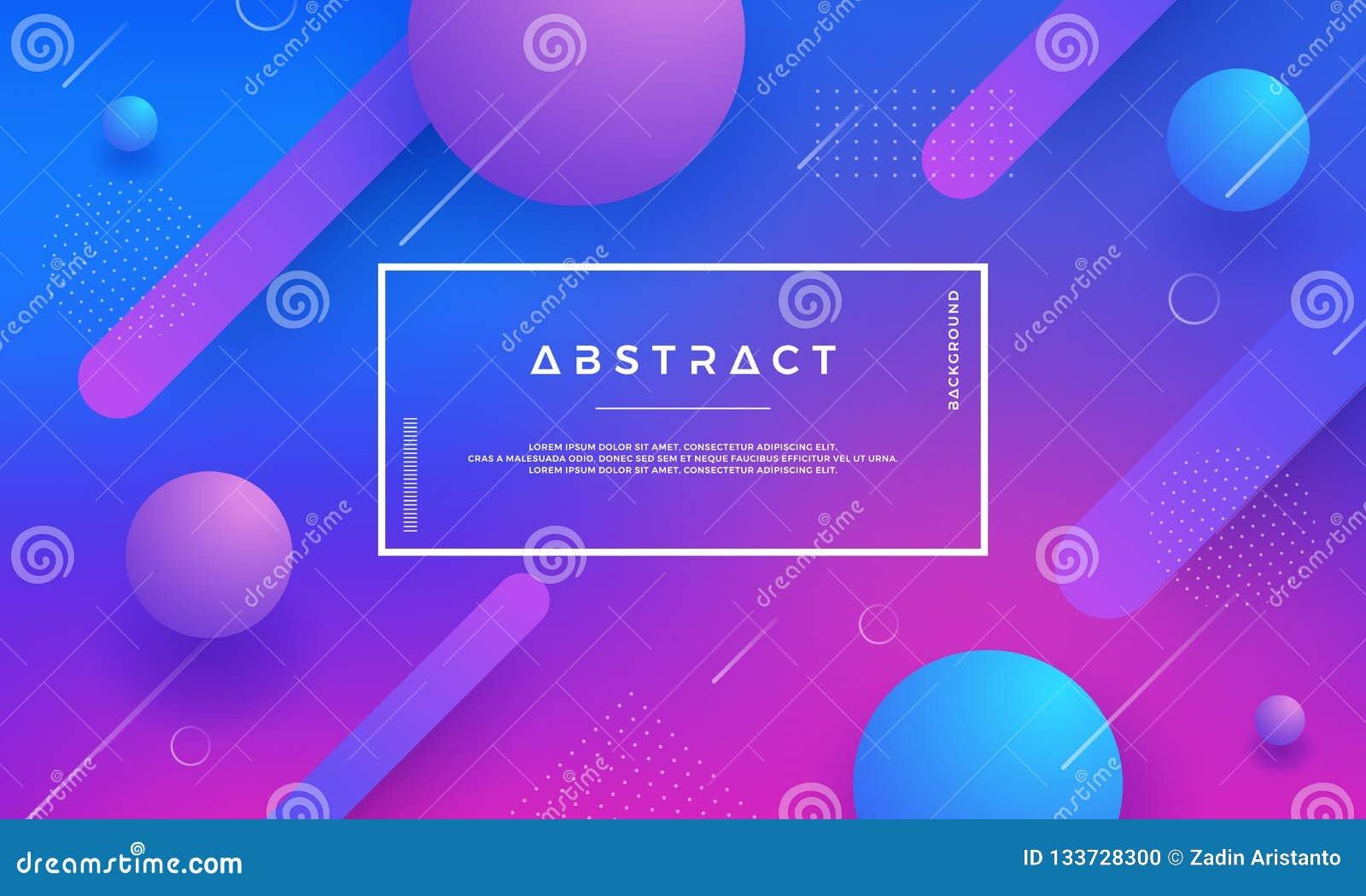Błękit, menchia, purpurowy Nowożytny geometryczny abstrakcjonistyczny wektorowy tło z modnym gradientowym kolorem