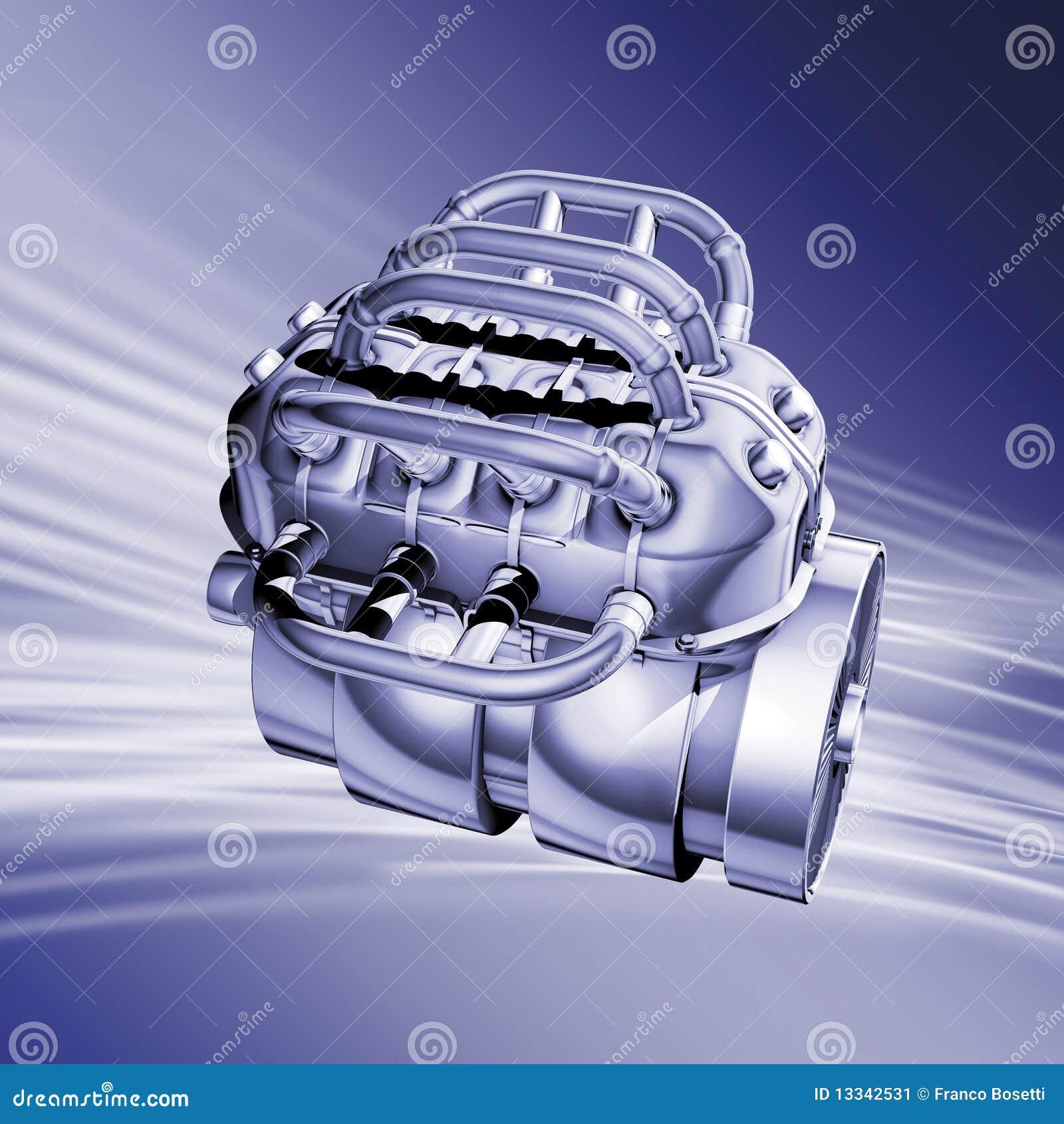 Błękit silnik
