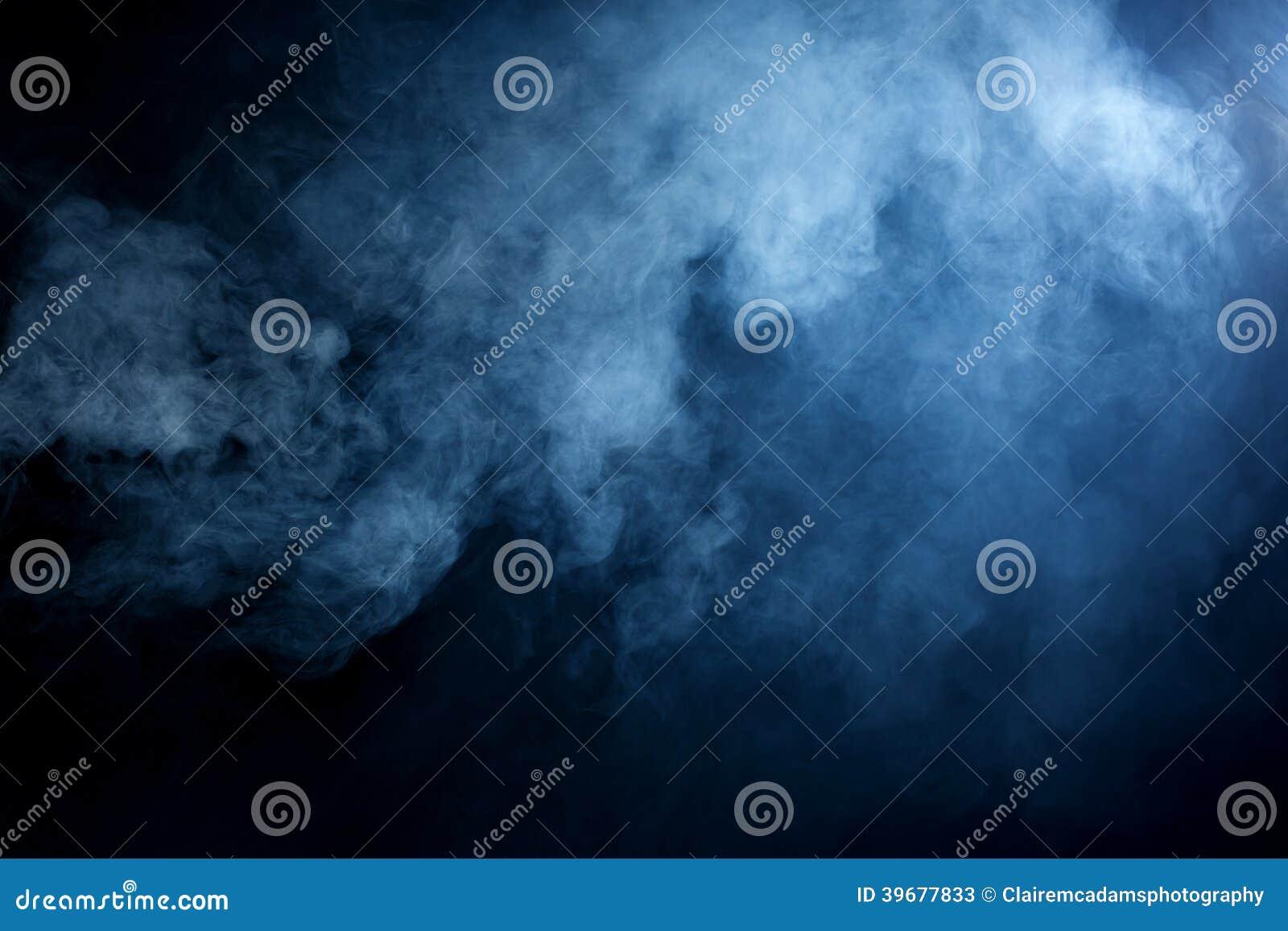 Błękit/Siwieje dym na Czarnym tle