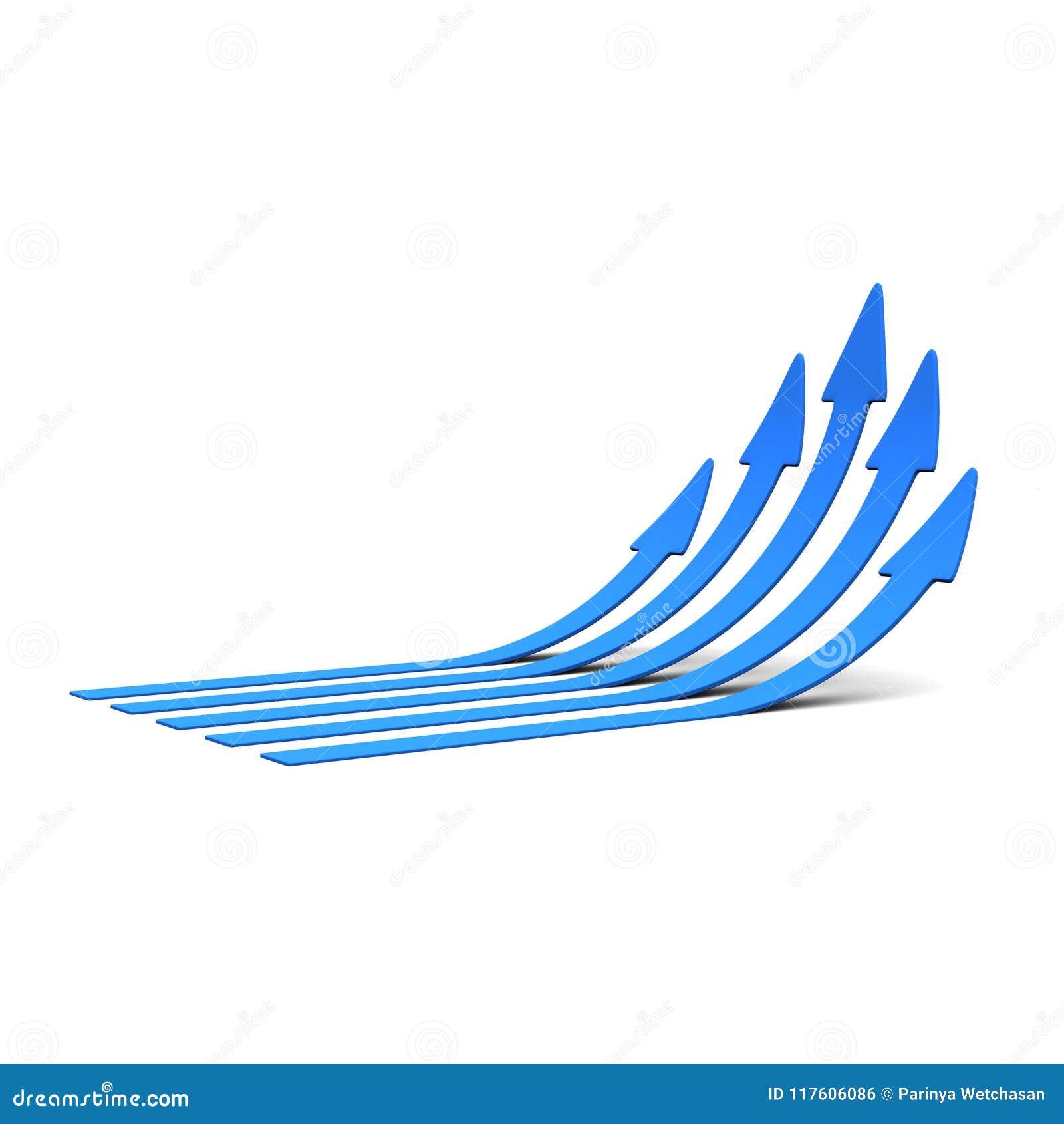 Błękit W górę strzała świadczenia 3 d