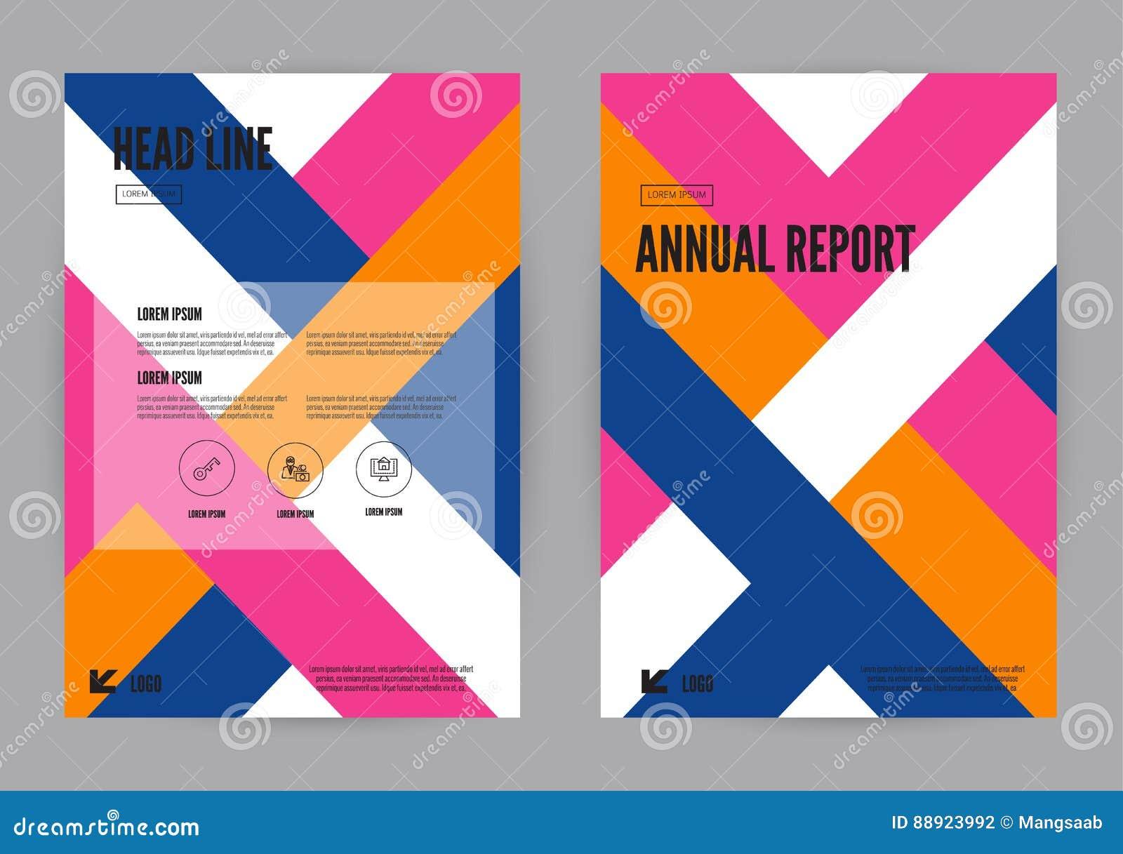 Błękita, menchii i pomarańcze sprawozdania rocznego ulotki broszurki ulotki szablonu A4 rozmiaru projekt,