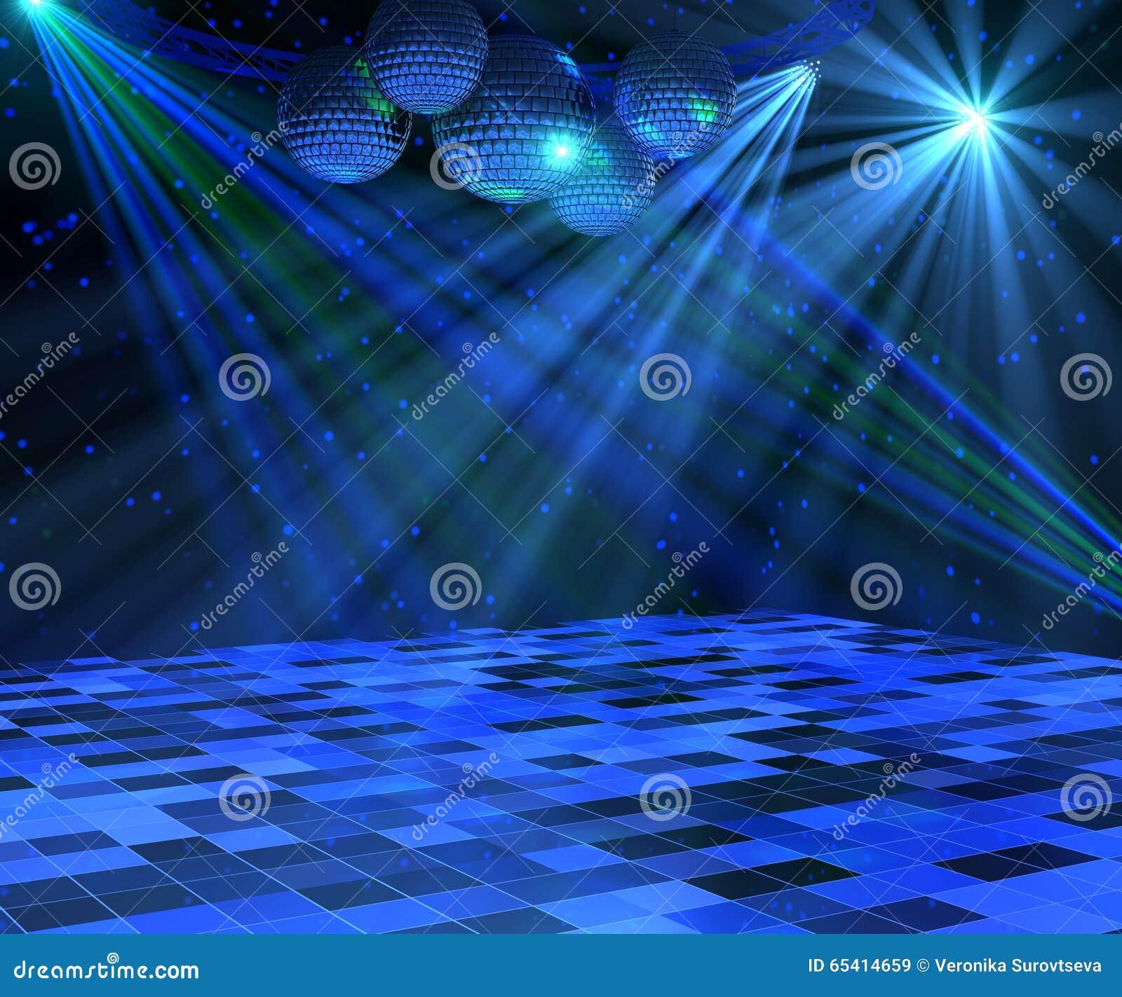 Błękitna dyskoteka Dance Floor