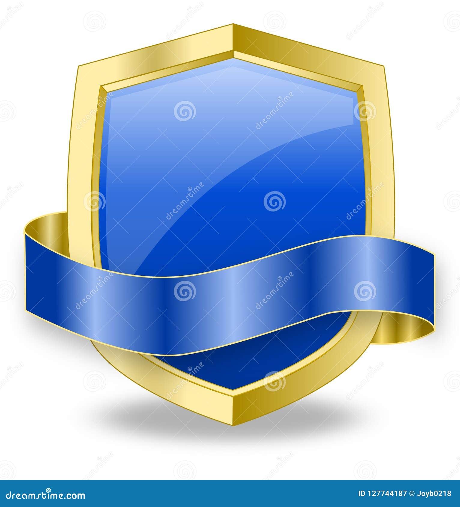 Błękitna osłony ikony sieci projekta ochrony weryfikacja