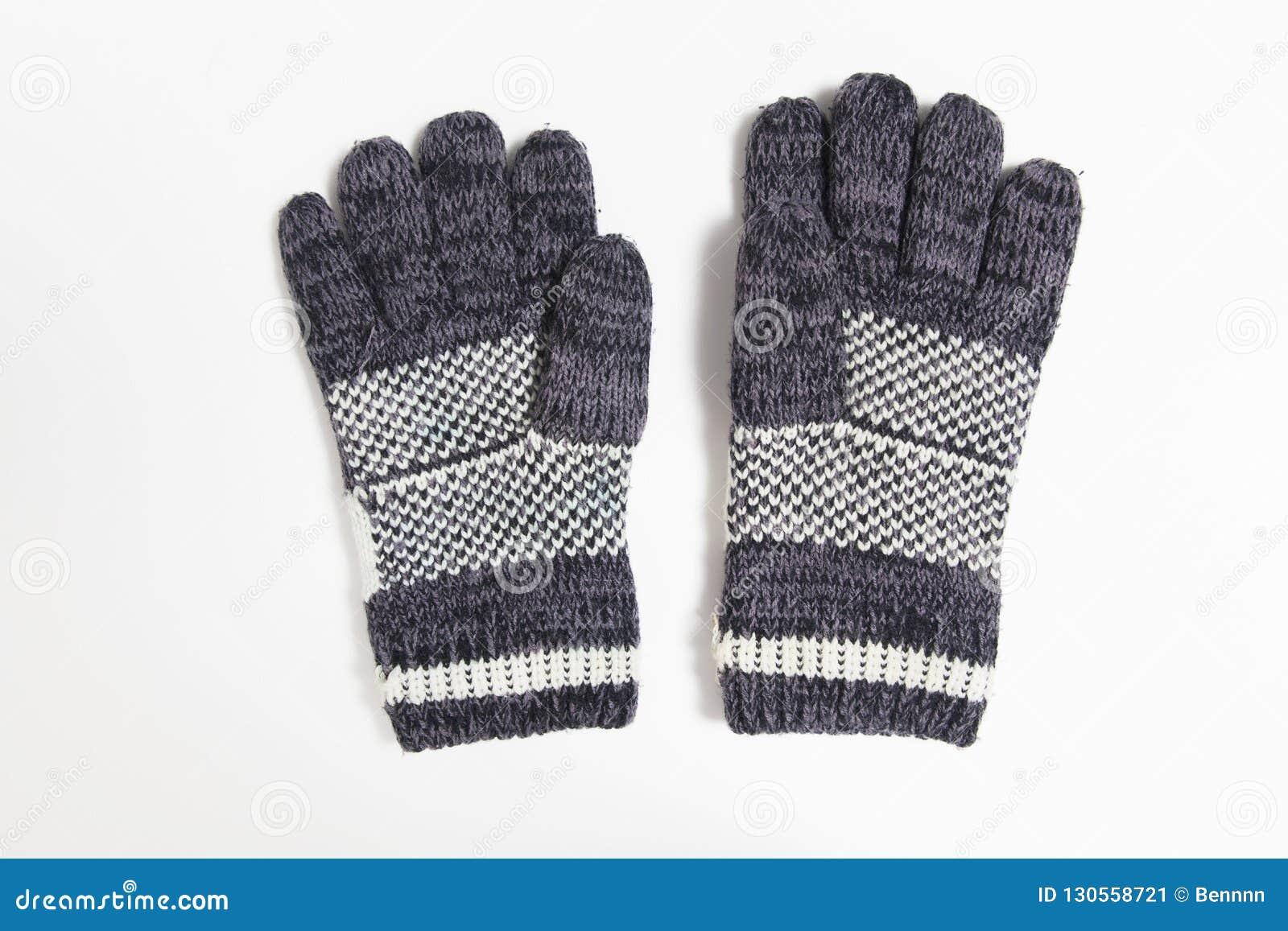 Błękitna rękawiczka zima