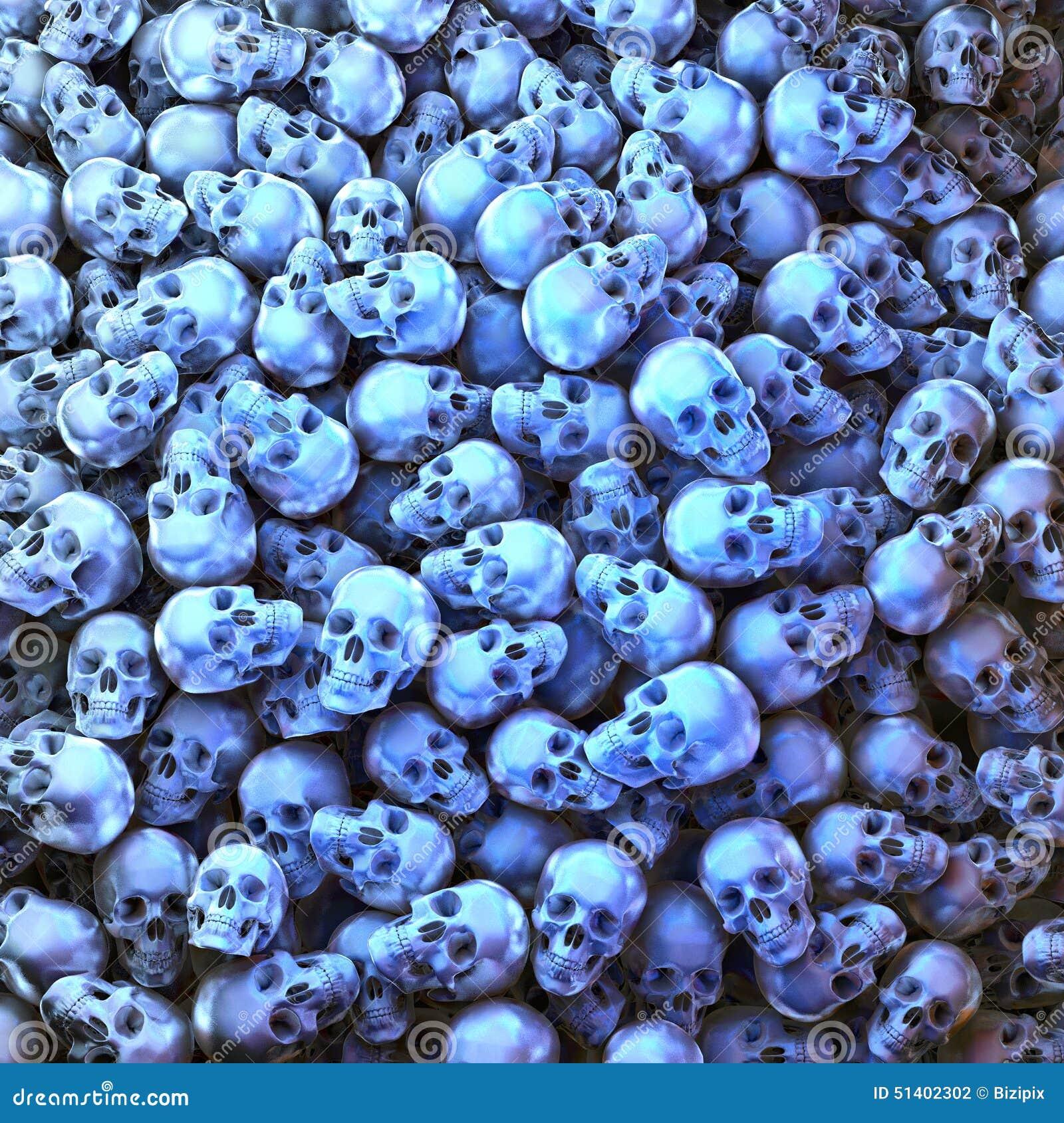 Błękitne czaszki