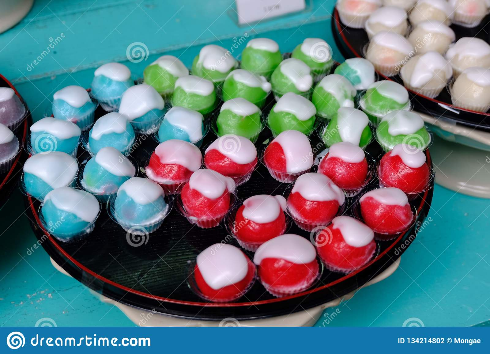 Błękitnego - rewolucjonistka - Zielonego jabłka pustynny lub Tajlandzki deser