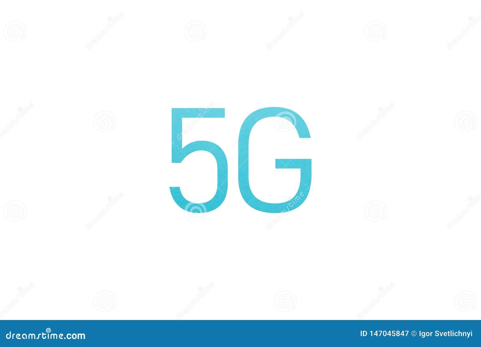 Błękitnej ikony 5G sieci bezprzewodowi systemy i internet rzeczy