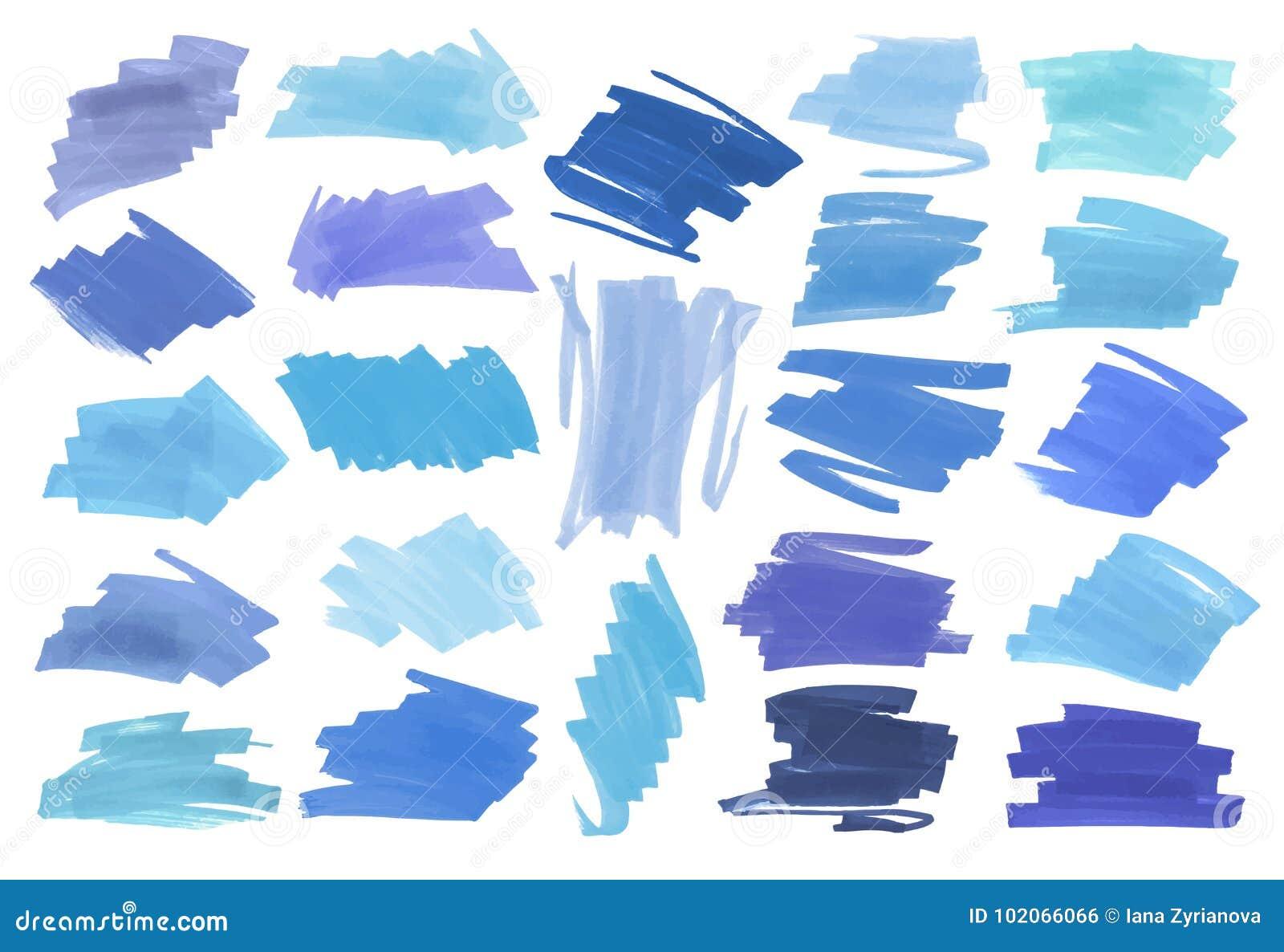 Błękitni kolor głównej atrakci lampasy, sztandary rysujący z Japan markierami Eleganccy główna atrakcja elementy dla projekta Wek