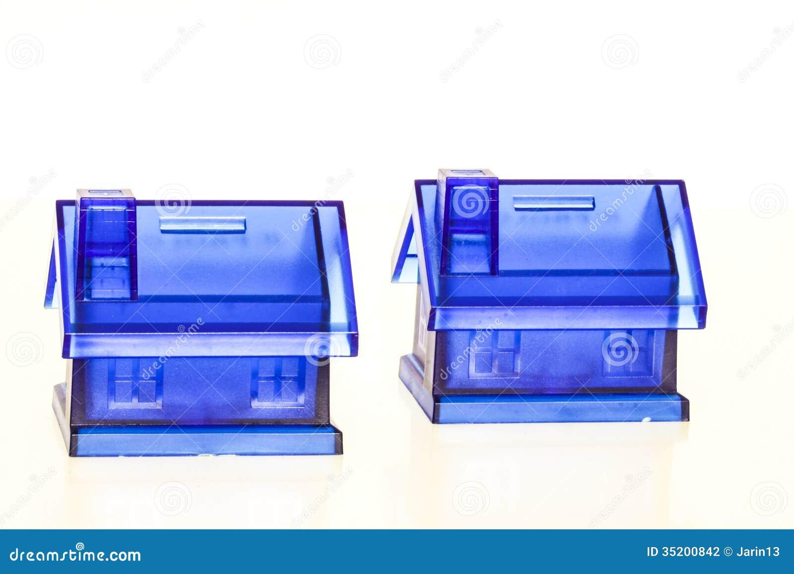 Błękitni pieniędzy pudełka - dom