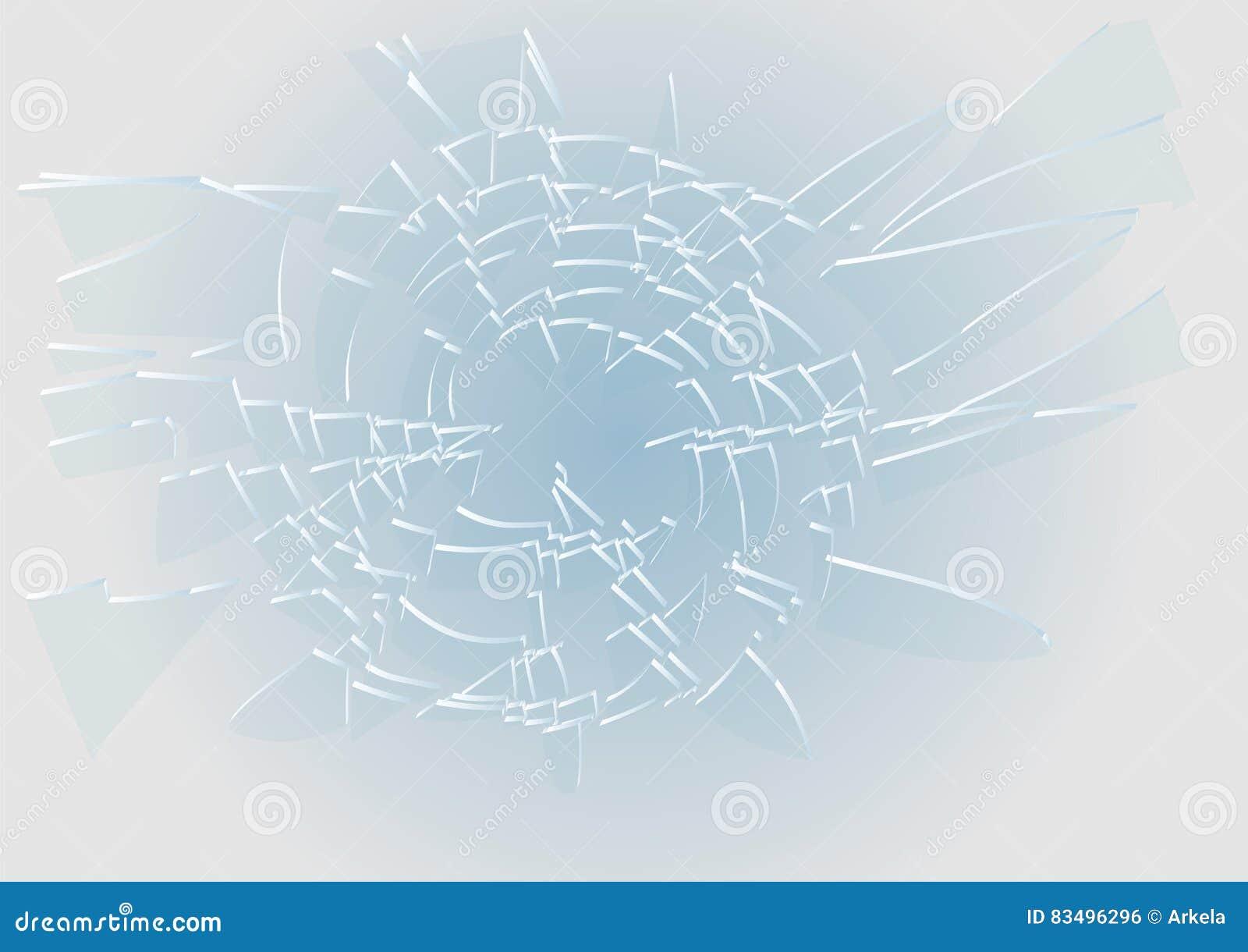 Błękitny łamający szkło