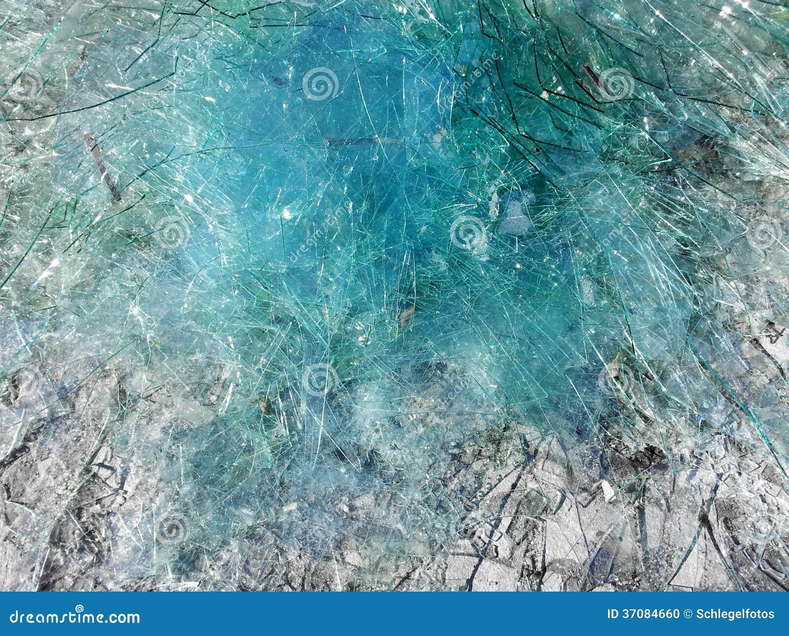 Download Błękitny łamający Szklany Tło Zdjęcie Stock - Obraz złożonej z rozbija, łamający: 37084660