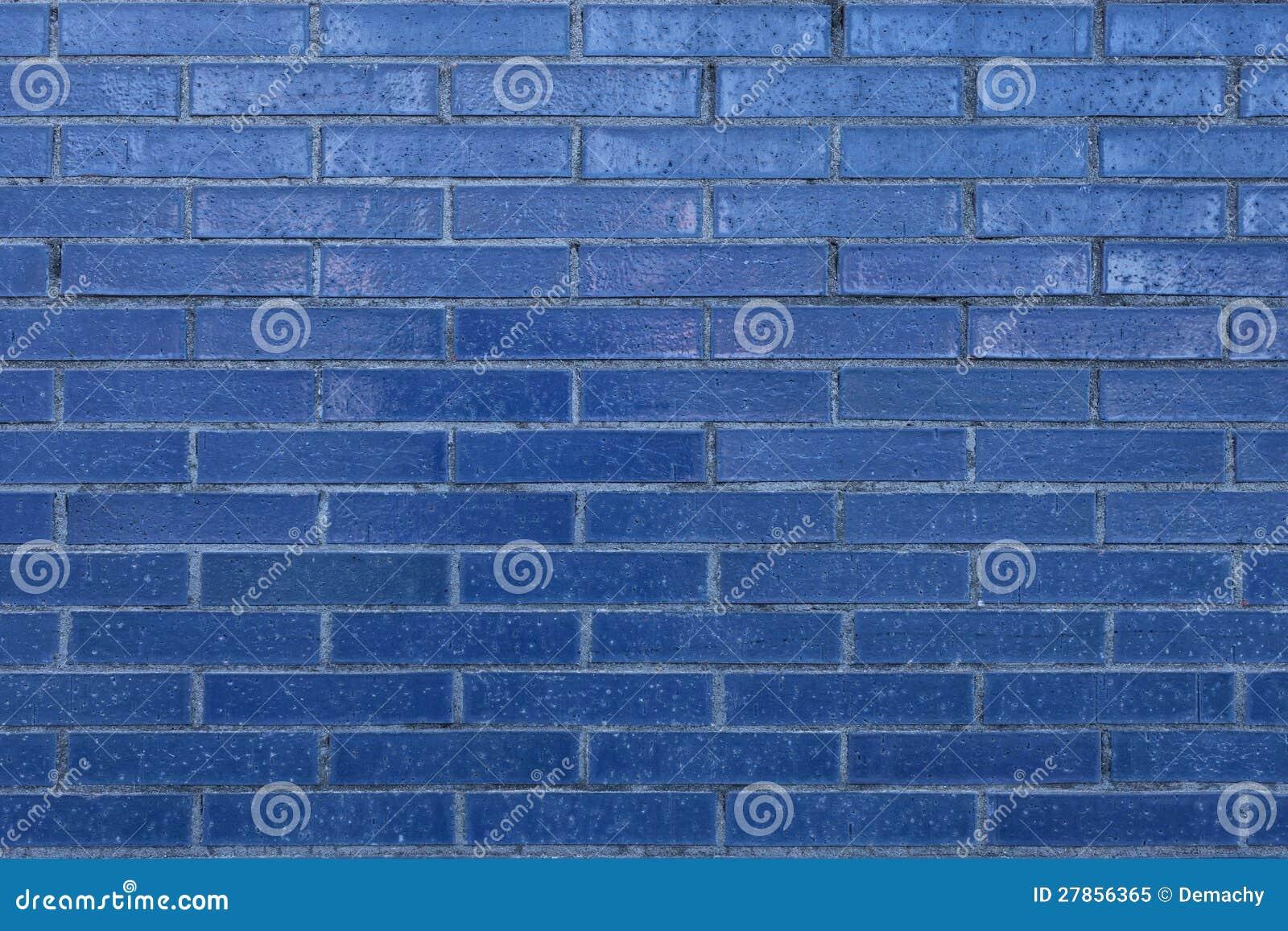 Błękitny Ściana Z Cegieł