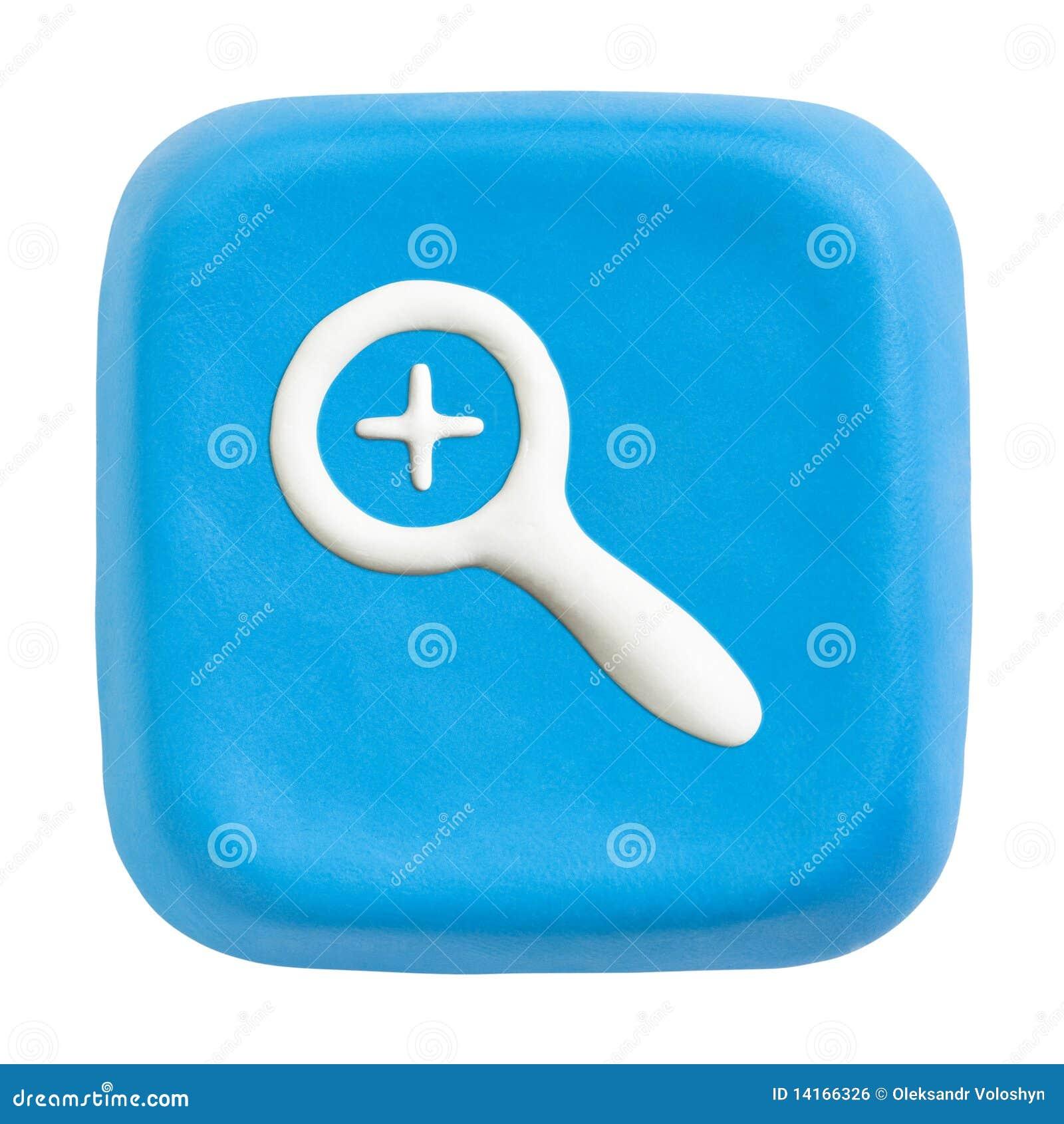 Błękitny ścinku klucza ścieżek kwadrata zoom