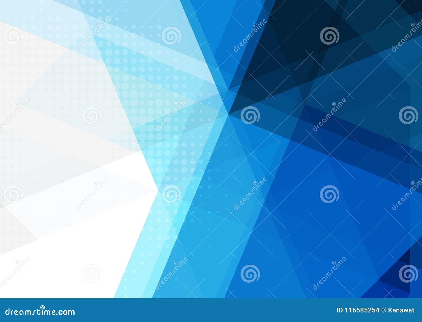 Błękitny abstrakcjonistyczny geometryczny tło, Wektorowa ilustracja