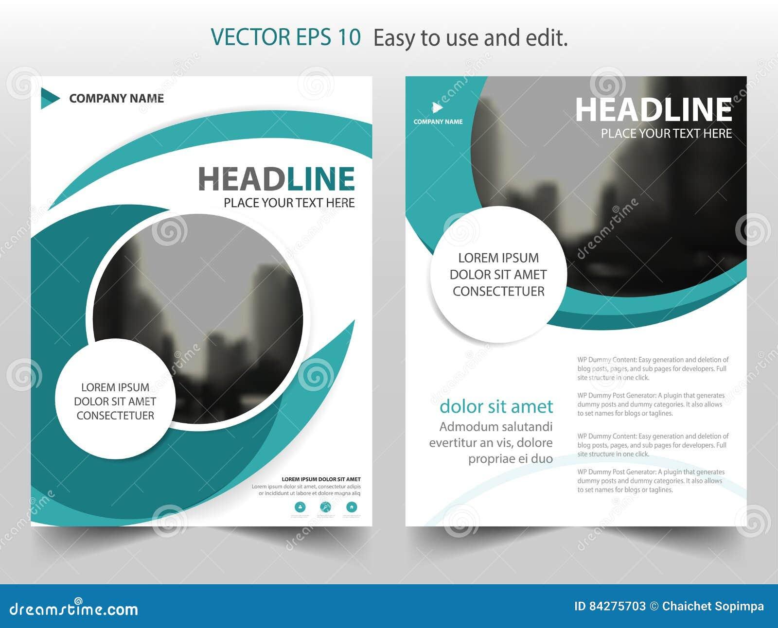 Błękitny Abstrakcjonistyczny okręgu sprawozdania rocznego broszurki projekta szablonu wektor Biznesowych ulotek magazynu infograp