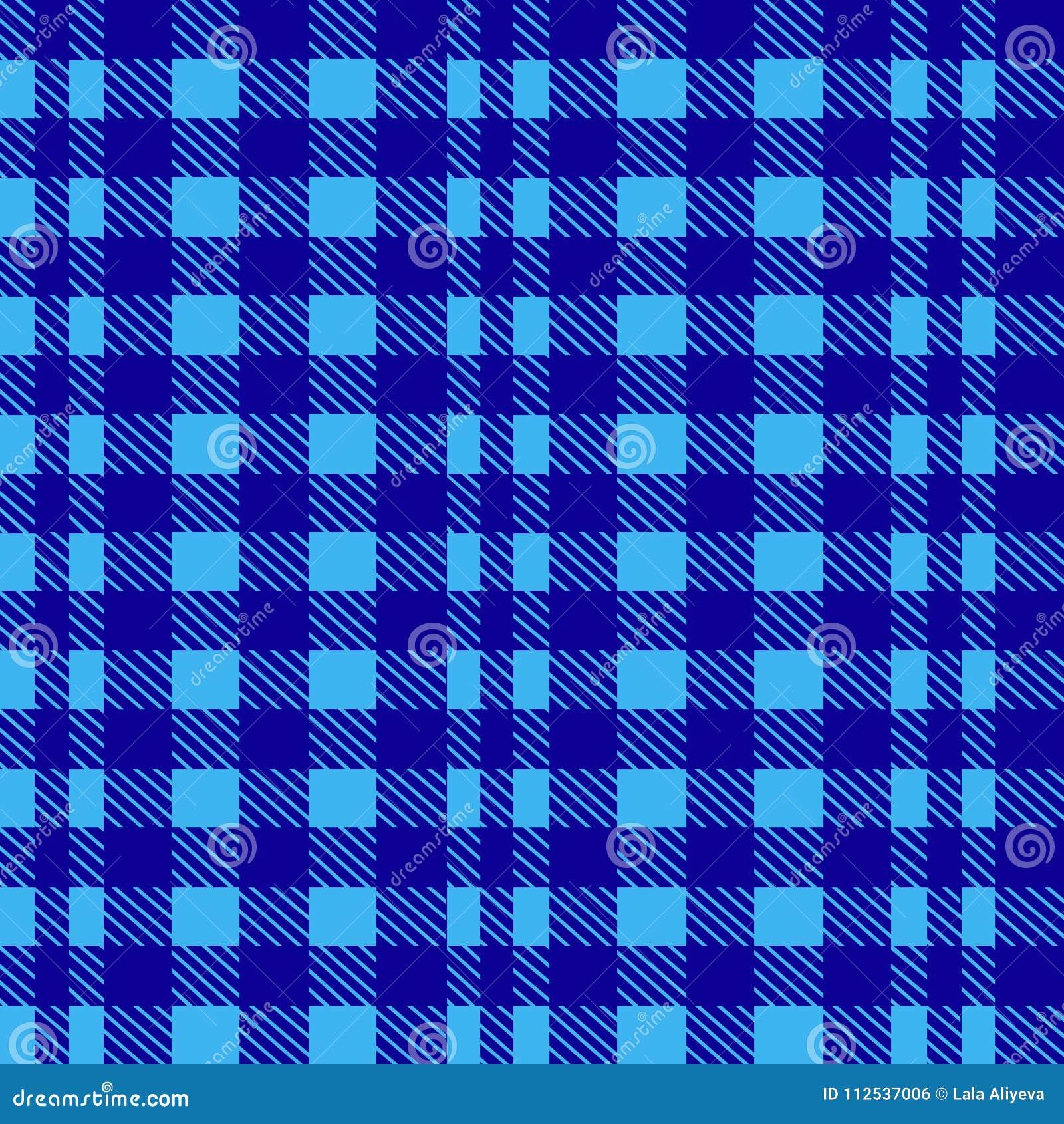Błękitny bezszwowy tablecloth wektor Powiewny Błękitny i Nadrzeczny kolor tradycyjny deseniowy bezszwowy tablecloth