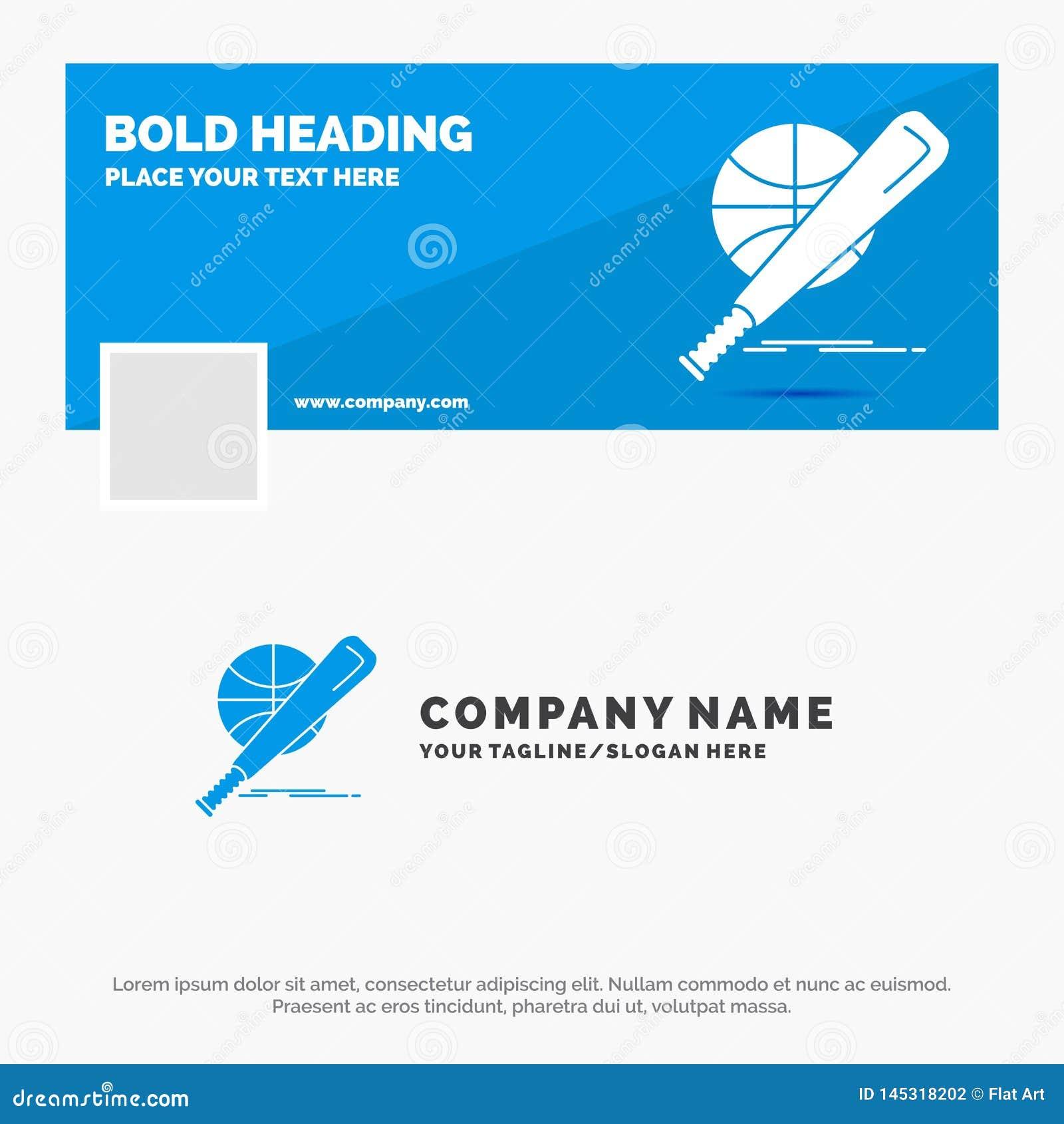 Błękitny Biznesowy logo szablon dla baseballa, kosz, piłka, gra, zabawa Facebook linia czasu sztandaru projekt wektorowy sie? szt