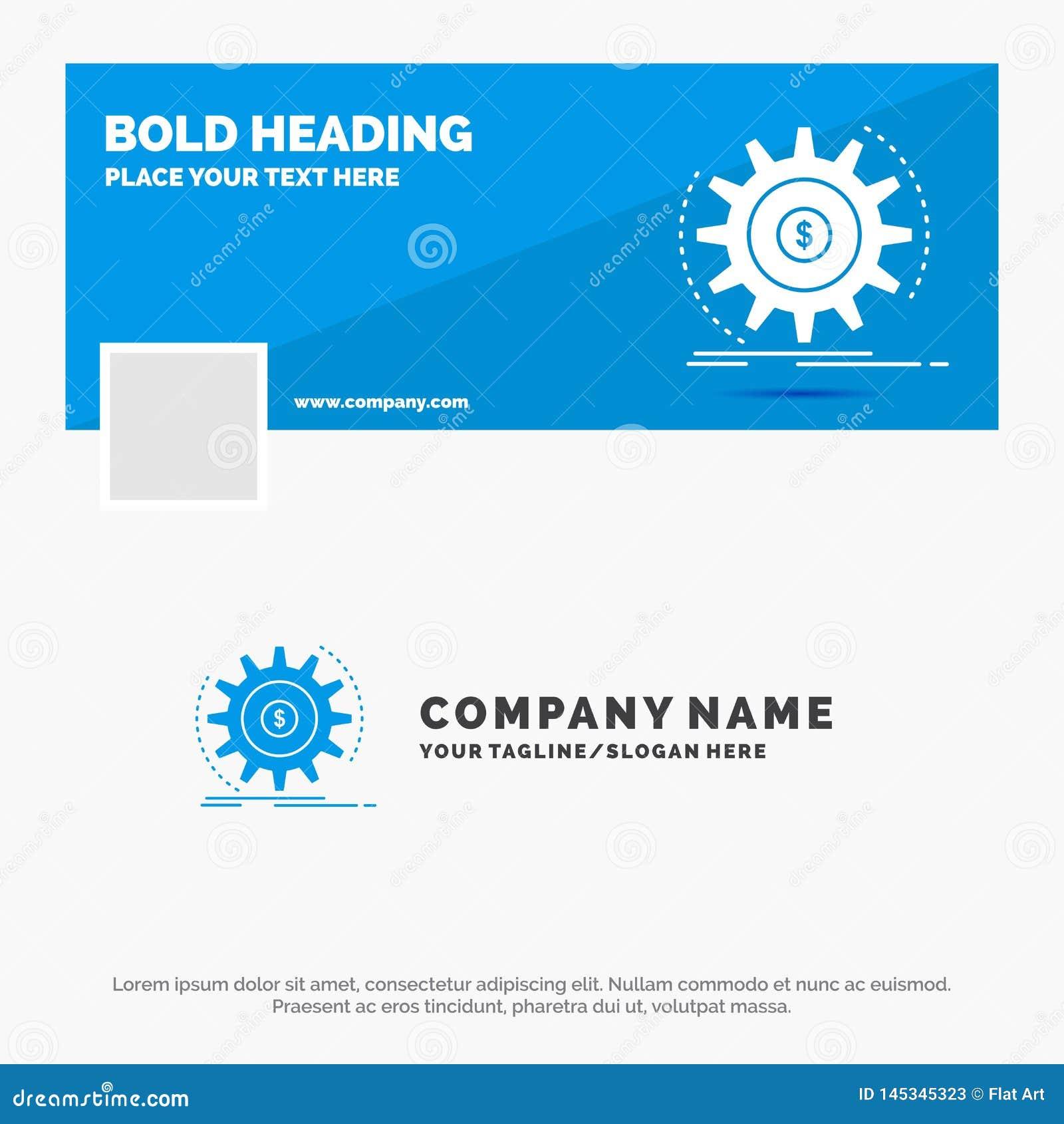 Błękitny Biznesowy logo szablon dla finanse, przepływ, dochód, robi, pieniądze Facebook linia czasu sztandaru projekt 10 sztandar