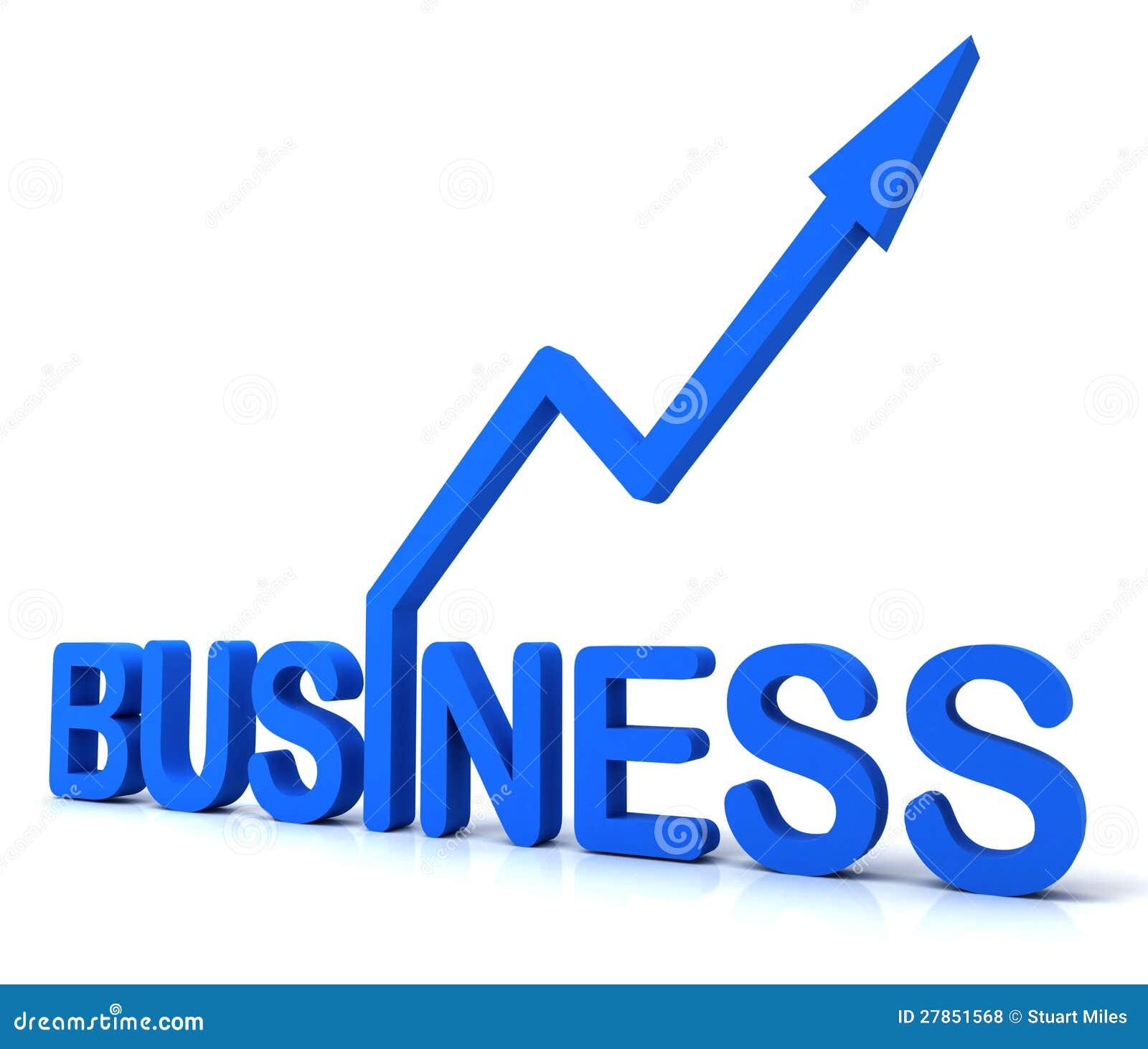 Błękitny Biznesowy słowo Pokazuje handel