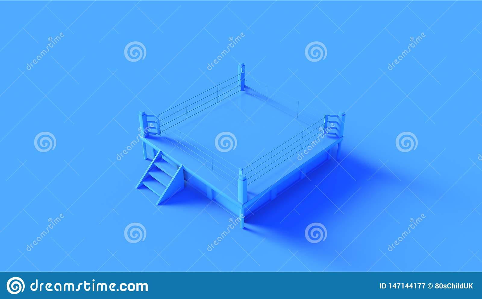 Błękitny Bokserski pierścionek