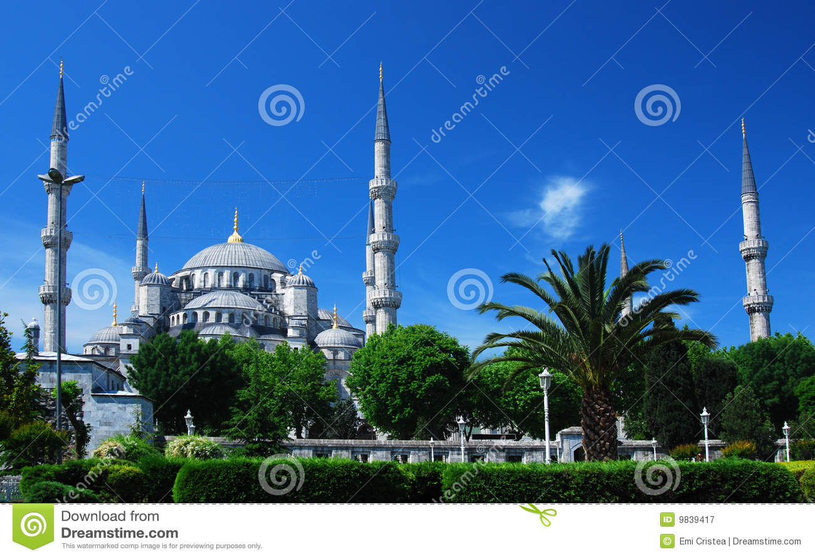 Błękitny camii Istanbul meczet