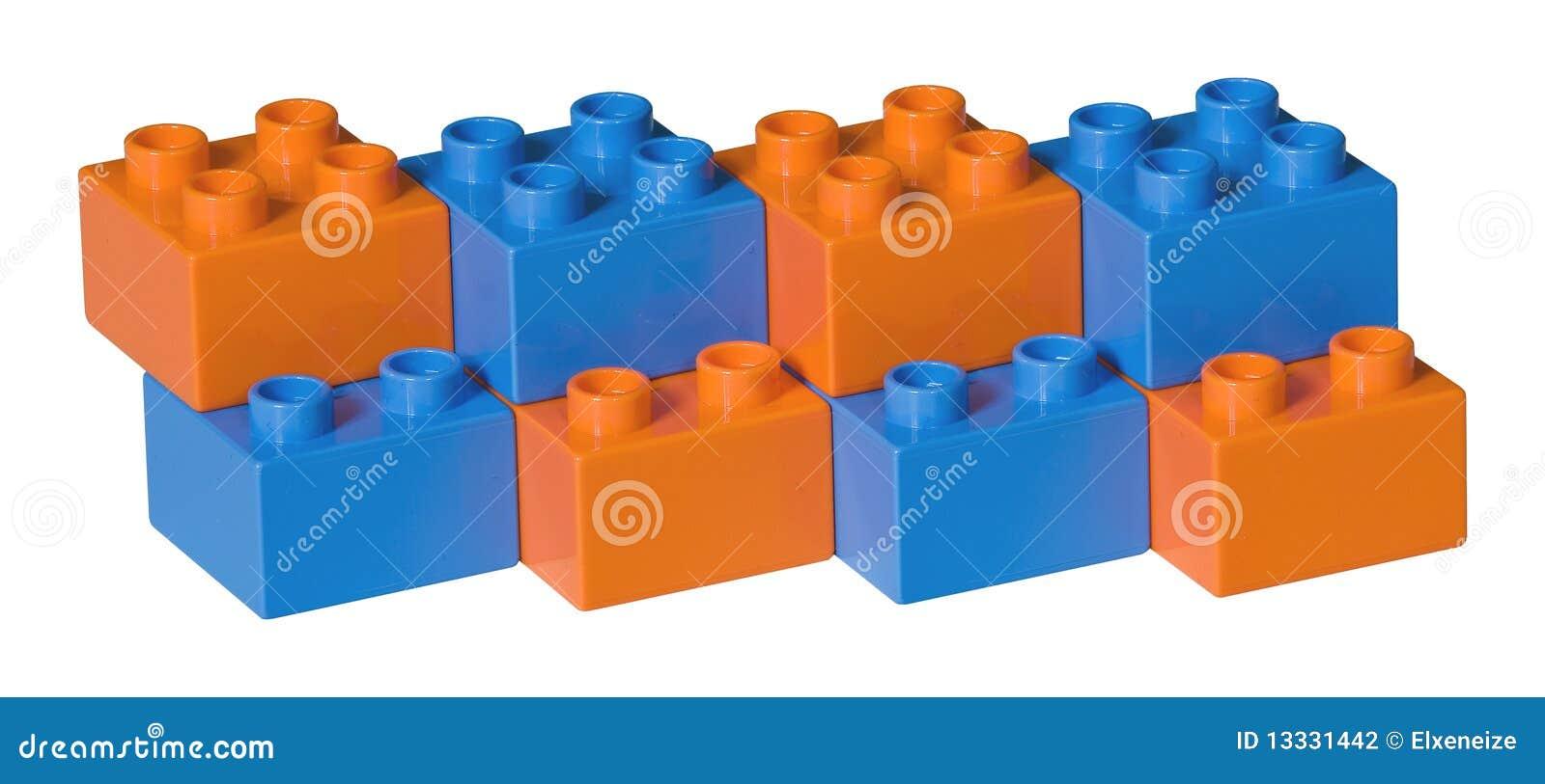 Błękitny cegieł pomarańczowa klingerytu zabawka
